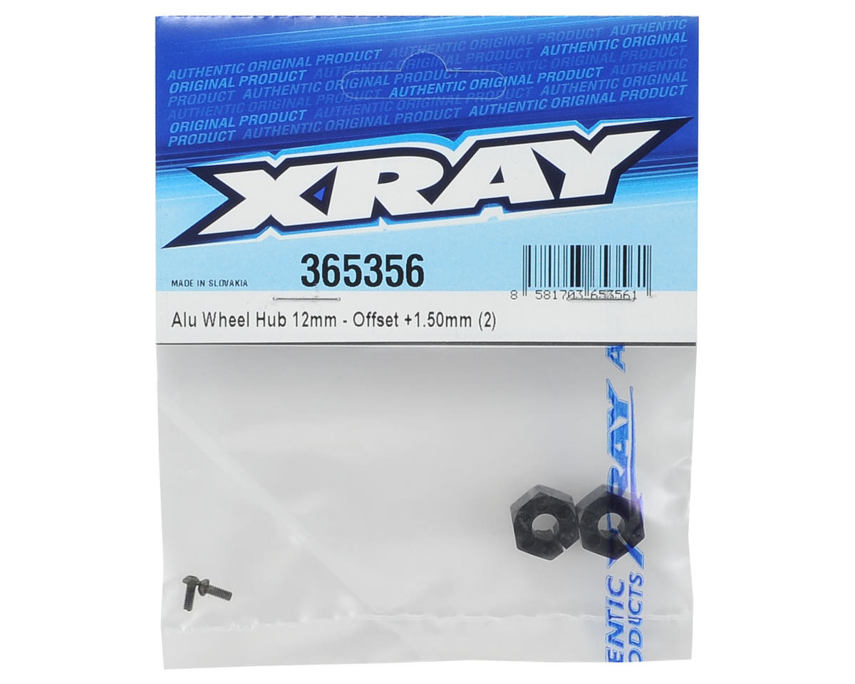XRAY 12mm Aluminum Wheel Hex (2) (+1.50mm Offset)