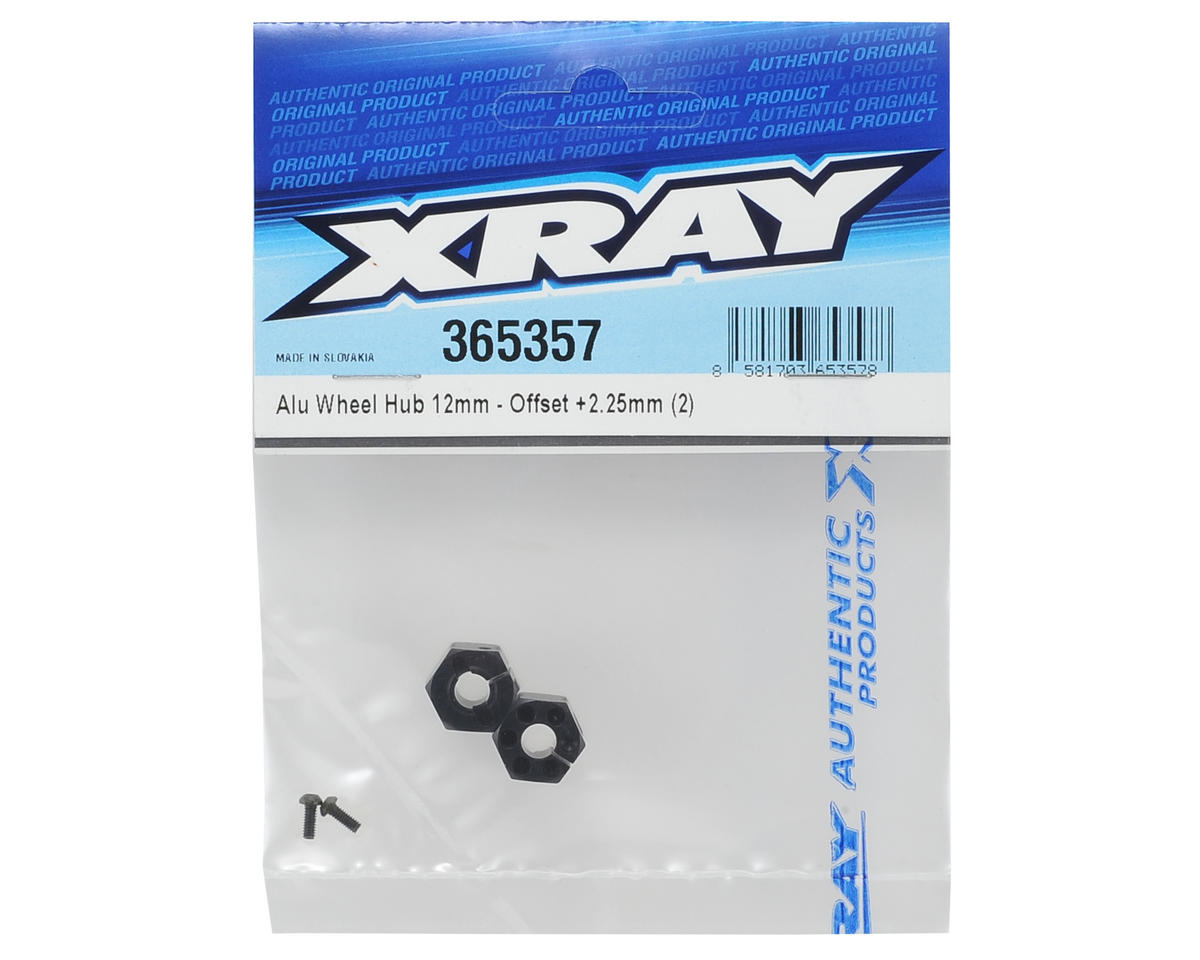 XRAY 12mm Aluminum Wheel Hex (2) (+2.25mm Offset)