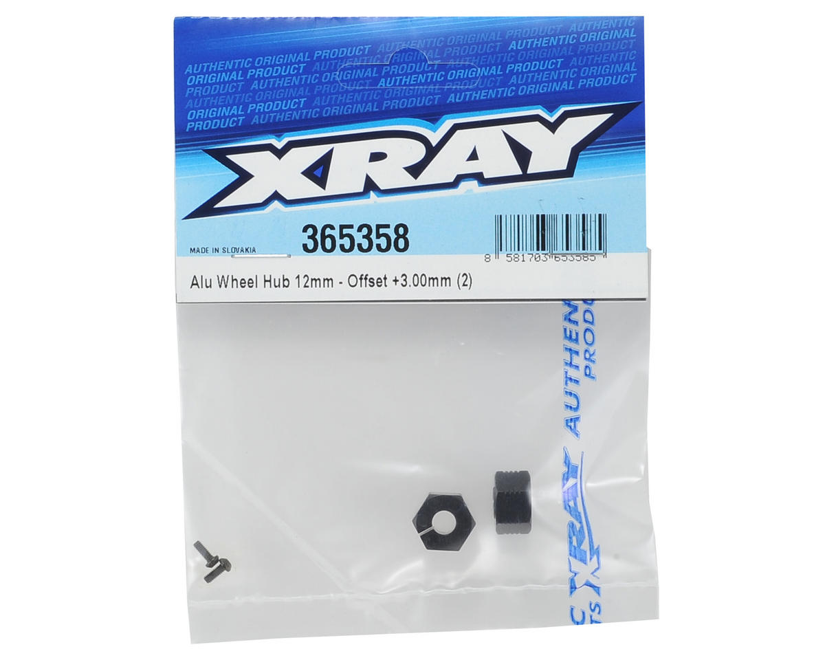 XRAY 12mm Aluminum Wheel Hex (2) (+3.00mm Offset)