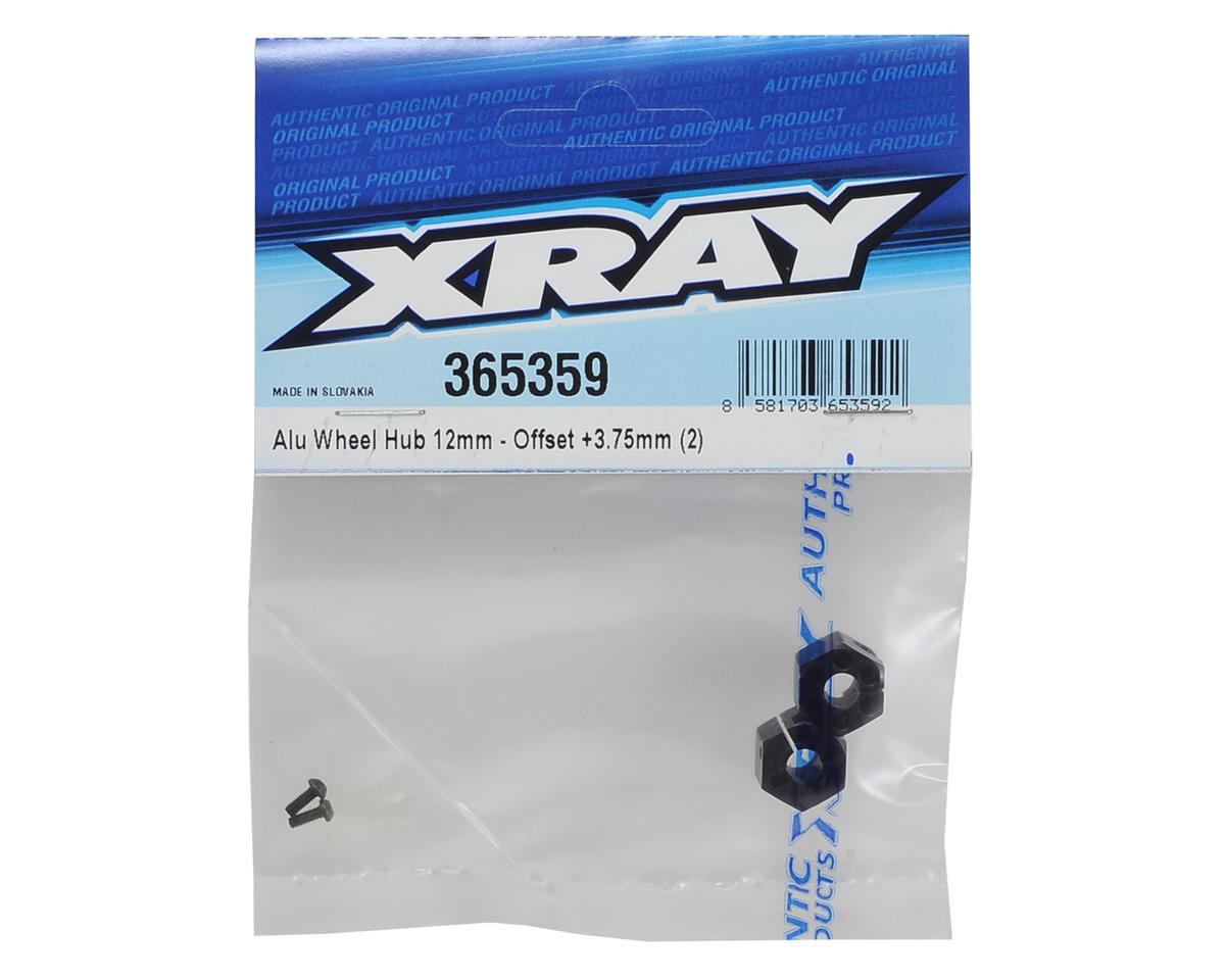 XRAY 12mm Aluminum Wheel Hex (2) (+3.75mm Offset)