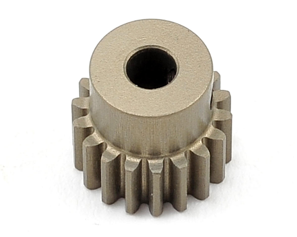 Aluminum 48P Hard Coated Pinion Gear (3.17mm Bore) (18T) by XRAY