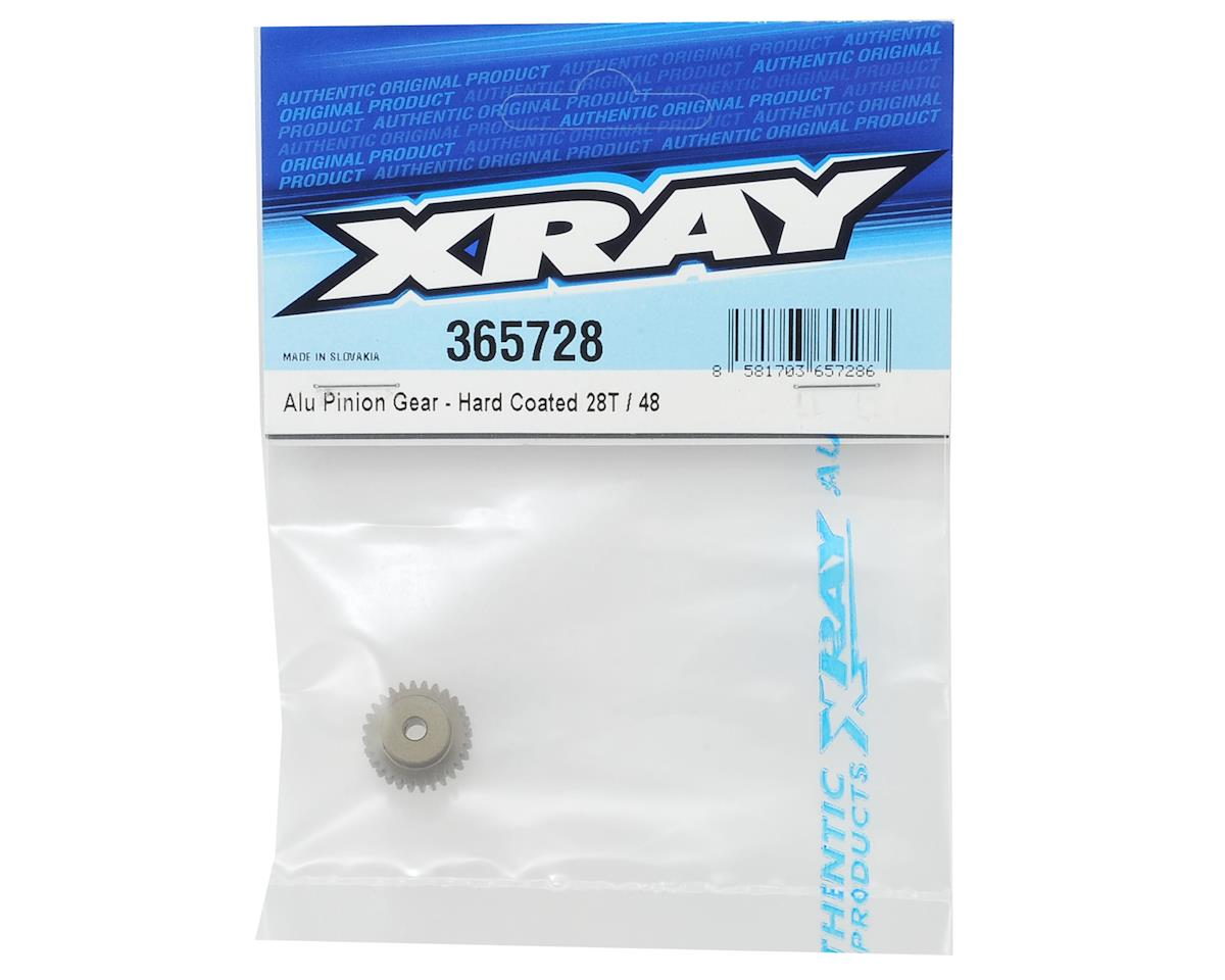 XRAY Aluminum 48P Hard Coated Pinion Gear (3.17mm Bore) (28T)