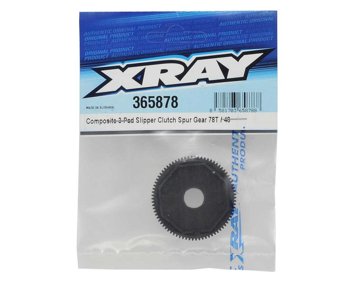 XRAY Composite 48P 3-Pad Slipper Clutch Spur Gear (78T)