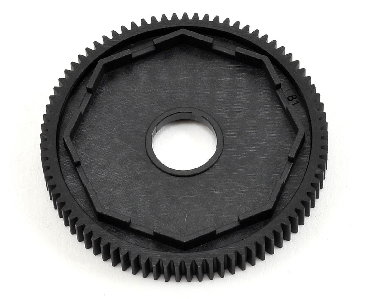 Composite 48P 3-Pad Slipper Clutch Spur Gear (81T) by XRAY