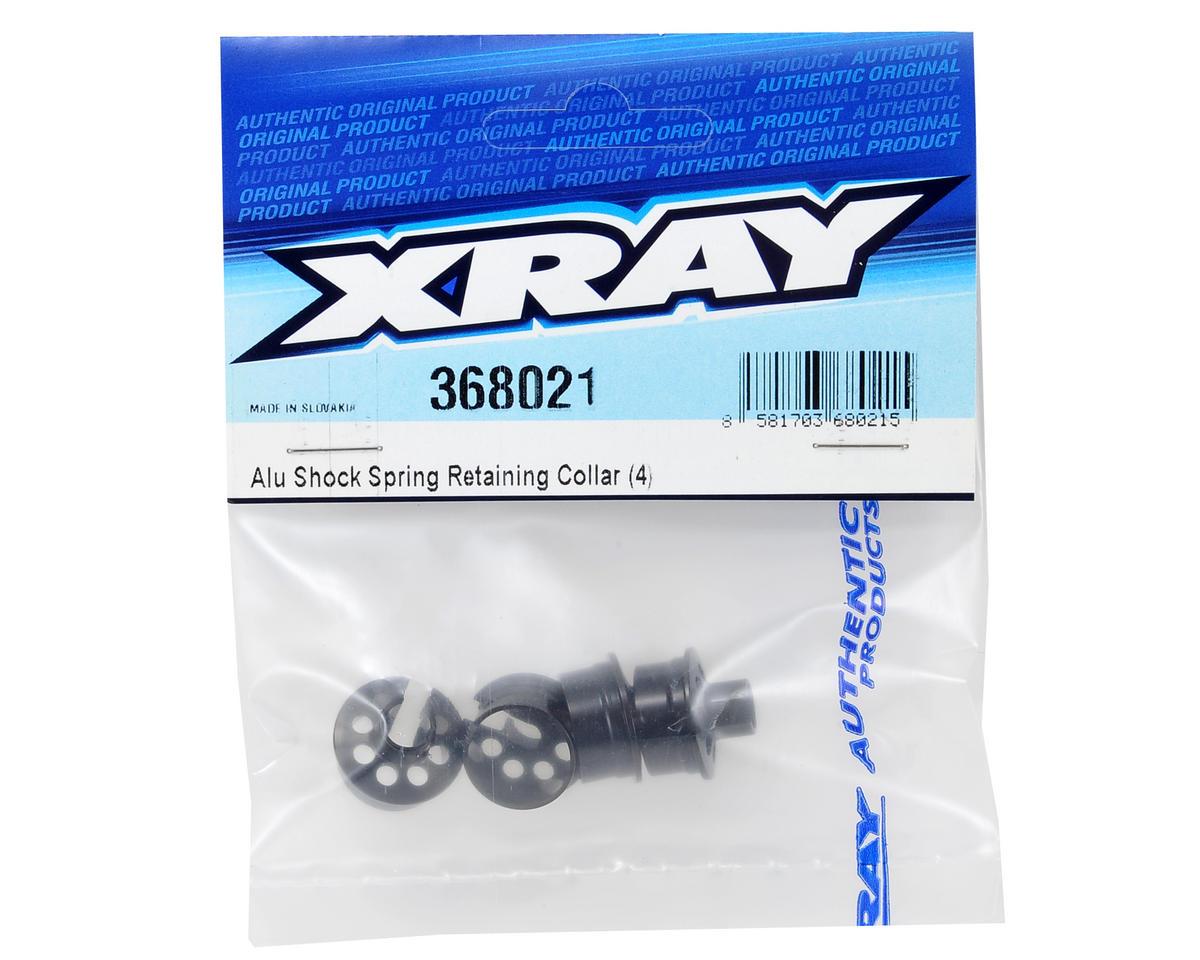 Aluminum Shock Spring Retaining Collar (4) by XRAY