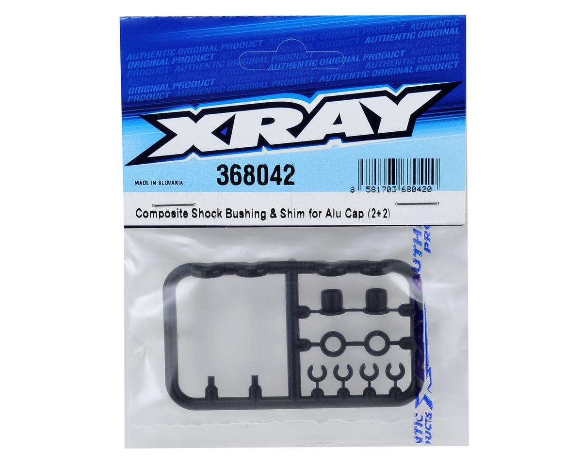 XRAY XB4 Composite Shock Bushing & Shim Set