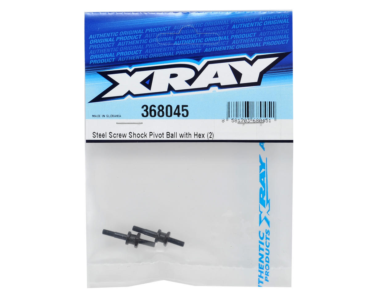 XRAY Steel Screw Shock Pivot Ball w/Hex (2)