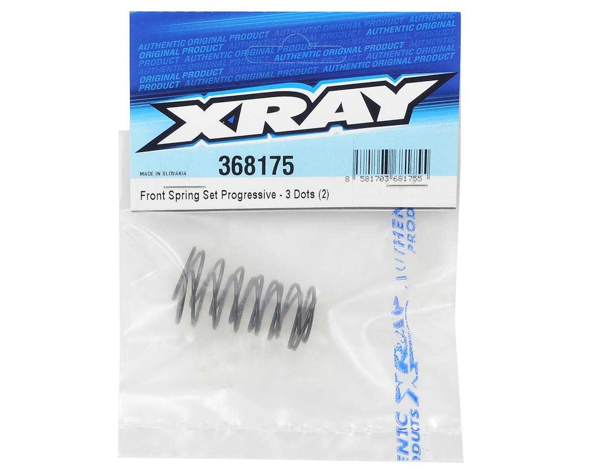 XRAY Front Progressive Shock Spring (2) (3-Dot)