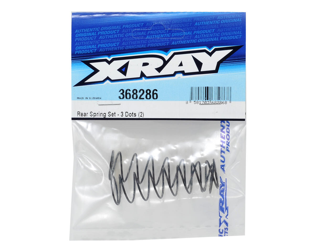Rear Shock Spring Set (C=0.45/3-Dots) (2) by XRAY