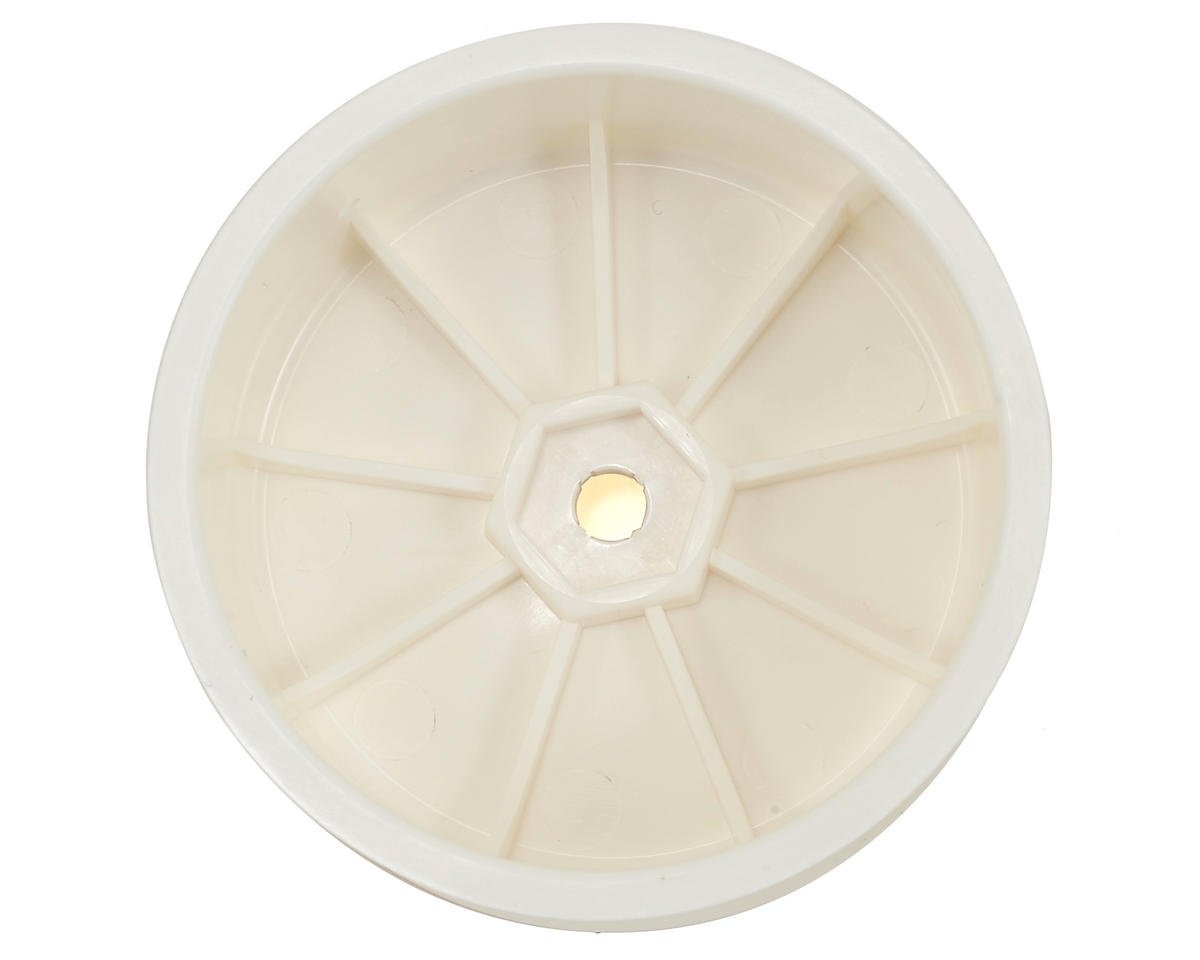 "XRAY 12mm Hex ""Aerodisk"" 4WD Front Buggy Wheels (2) (White) (XB4)"