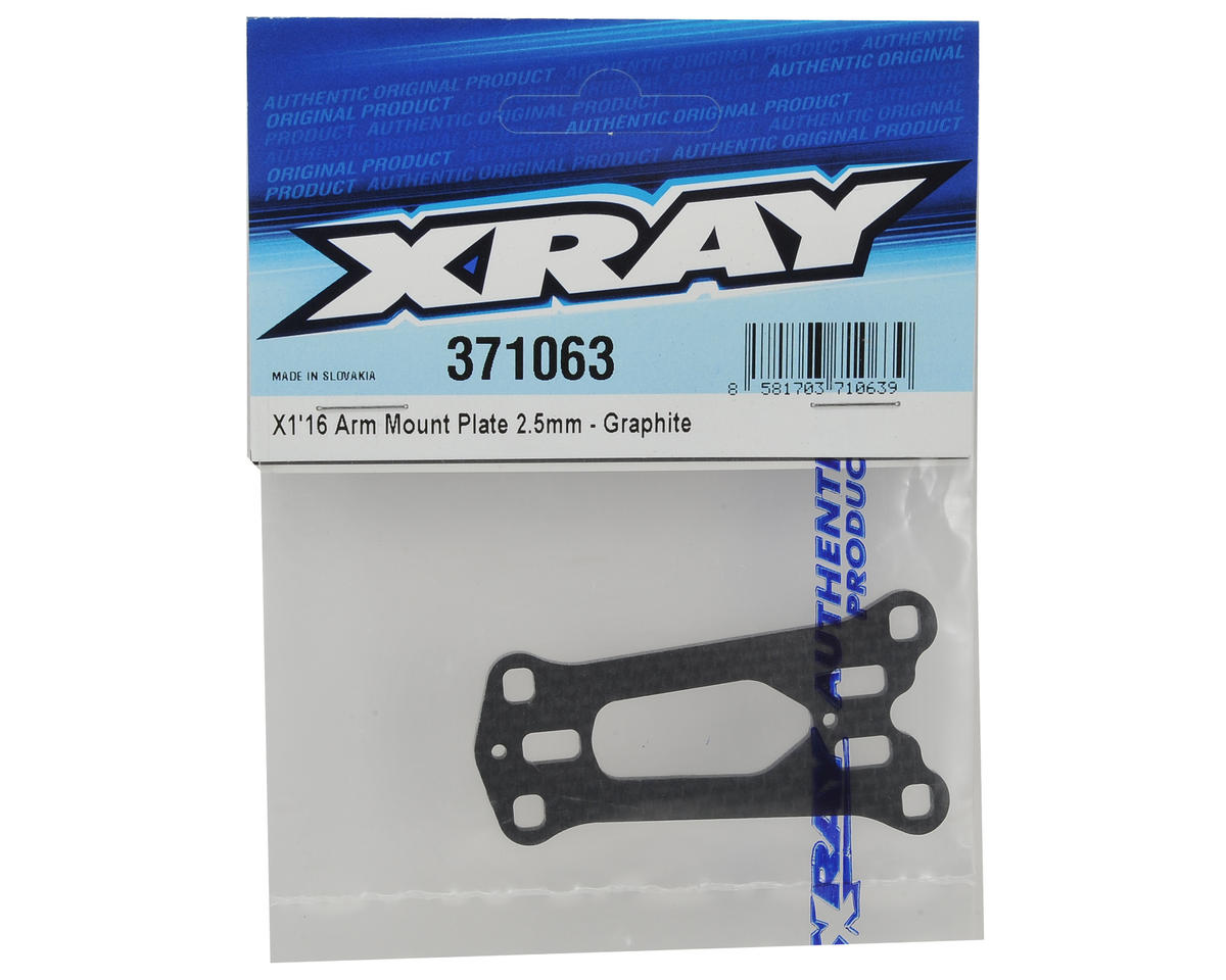 XRAY X1 2016 2.5mm Graphite Arm Mount Plate