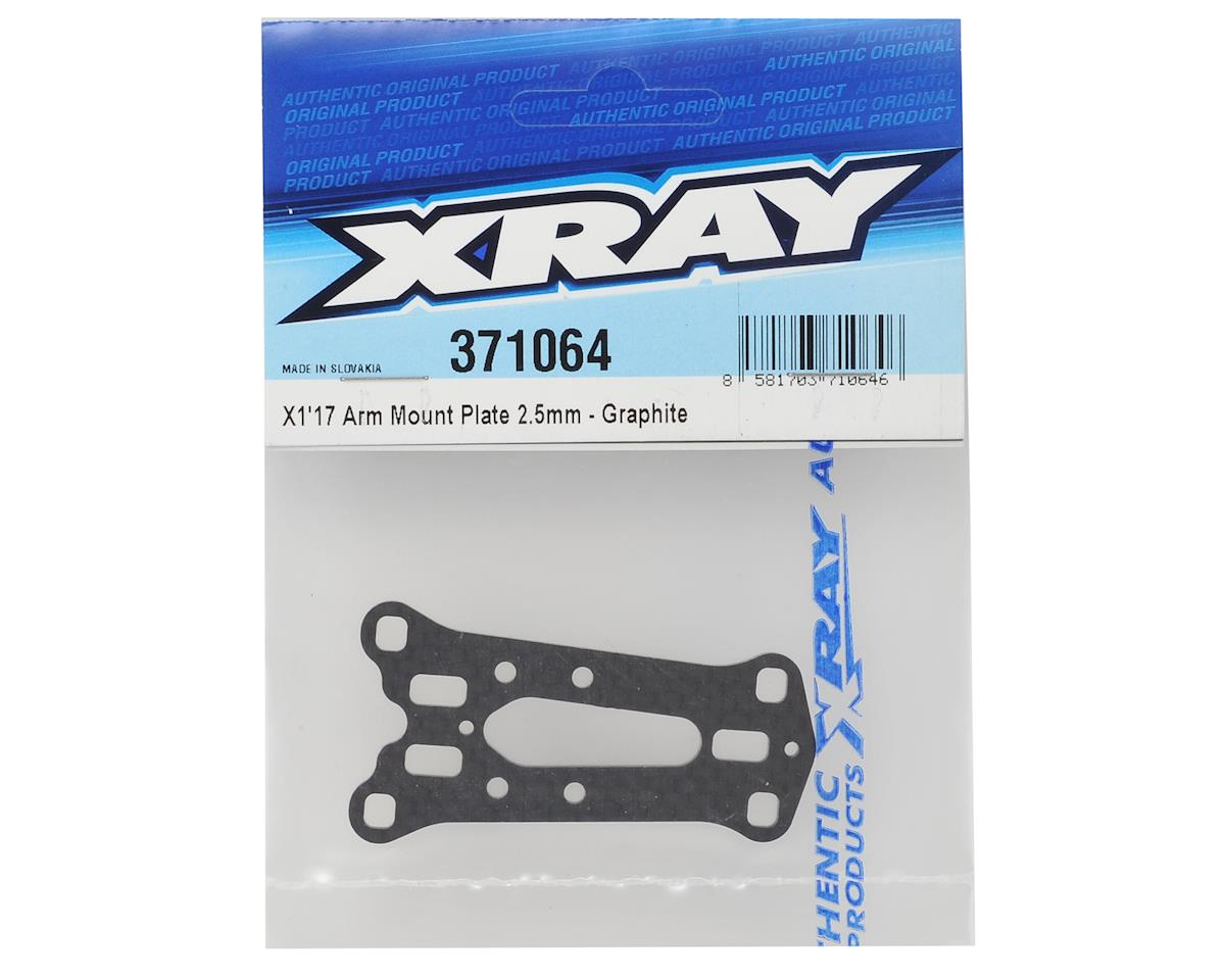 XRAY X1 2017 2.5mm Graphite Arm Mount Plate