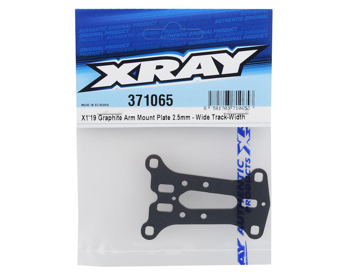 XRAY 2.5mm X1 2019 Graphite Arm Mount Plate (Wide Track)