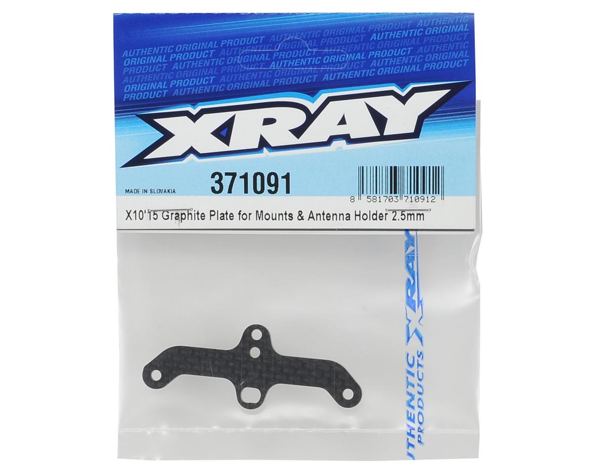 XRAY 2.5mm Graphite Mount & Antenna Holder Plate