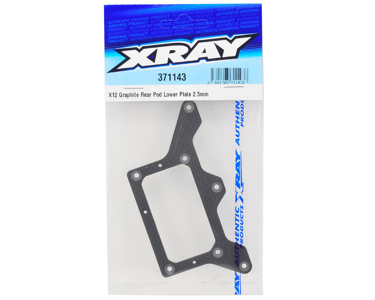 XRAY 2.5mm Graphite X12 Rear Lower Pod Plate
