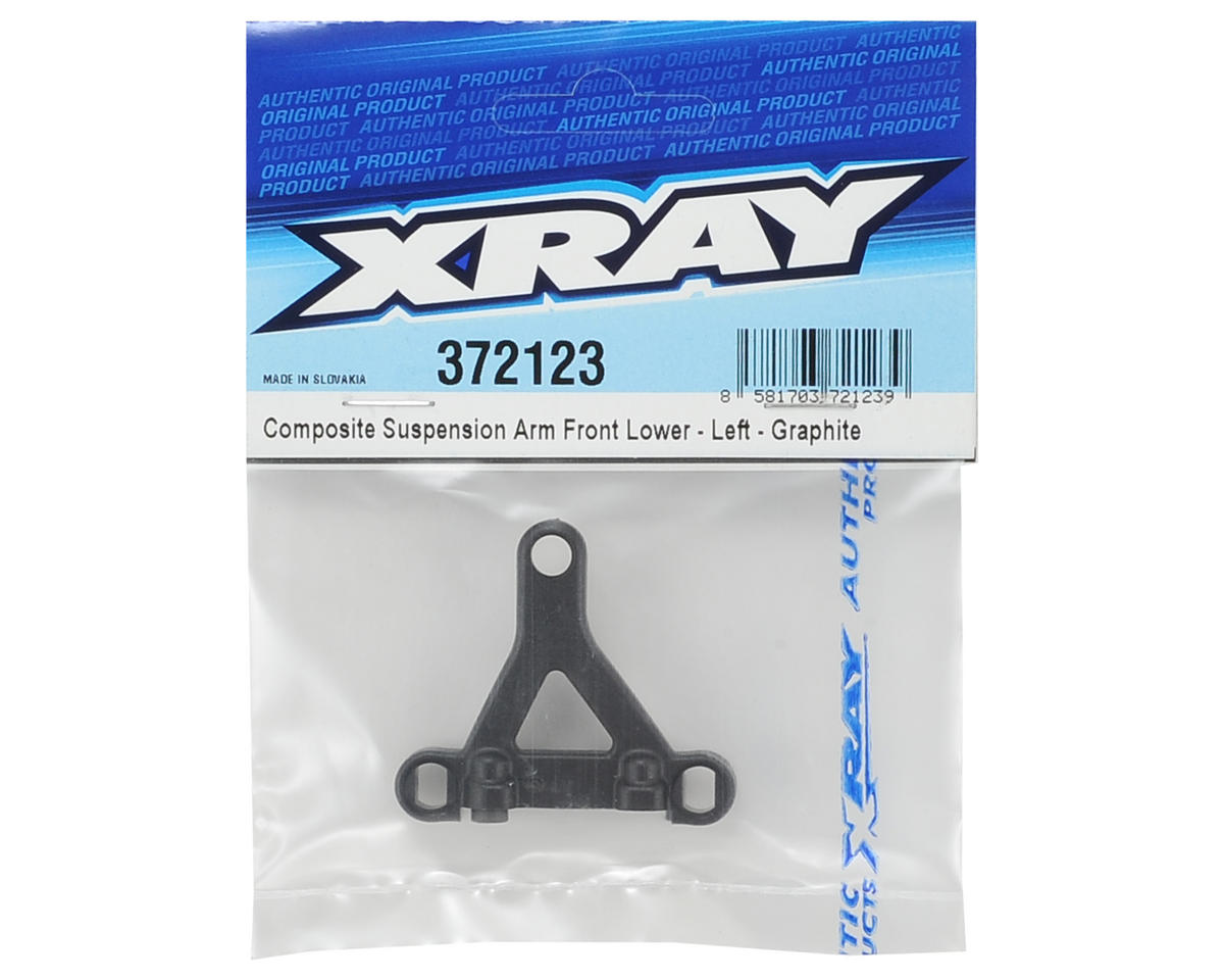 Left Front Lower Composite Suspension Arm (Graphite) by XRAY