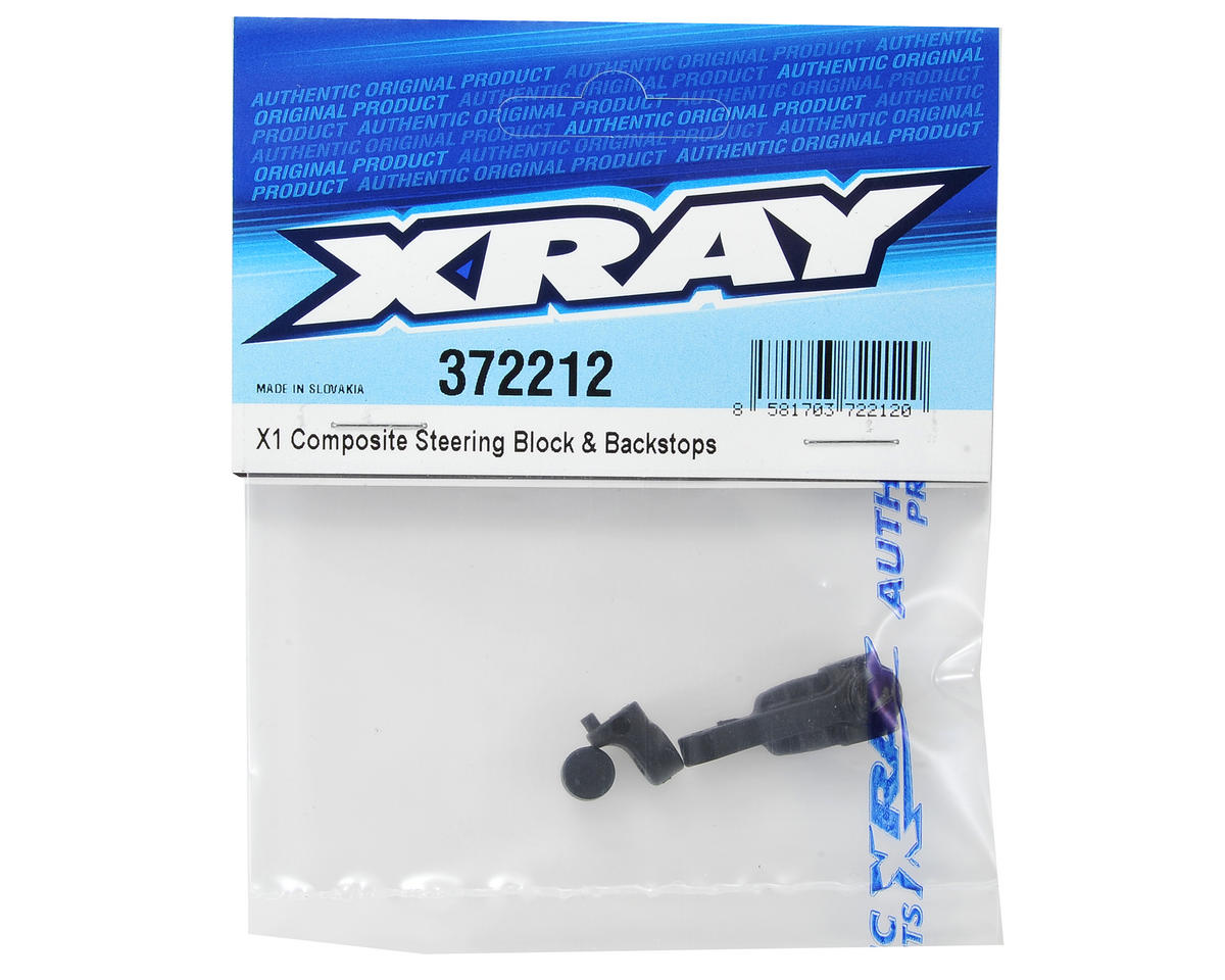 X1 Composite Steering Block & Backstop Set by XRAY
