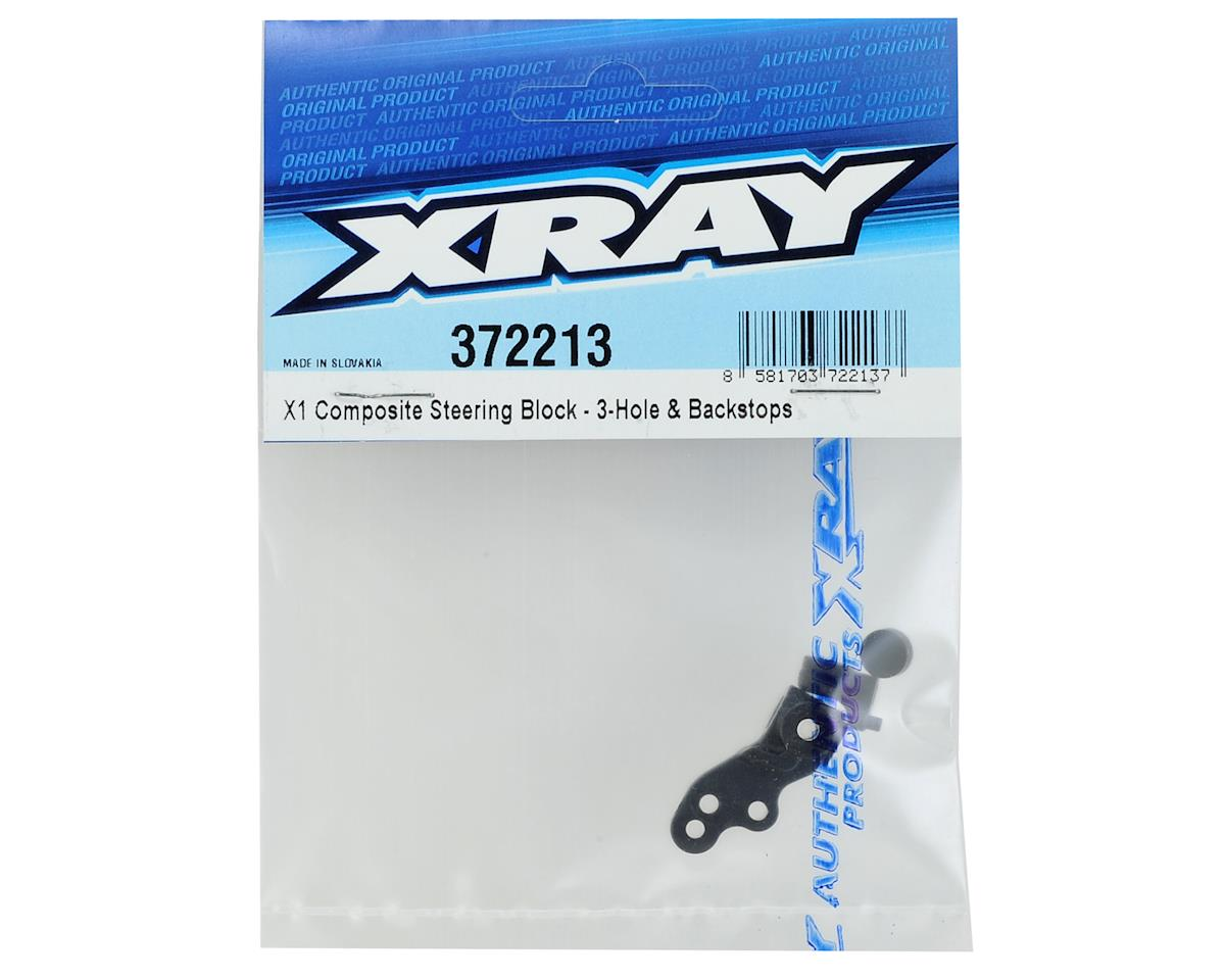XRAY X1 2018 Composite Steering Block (3-Hole & Backstops)