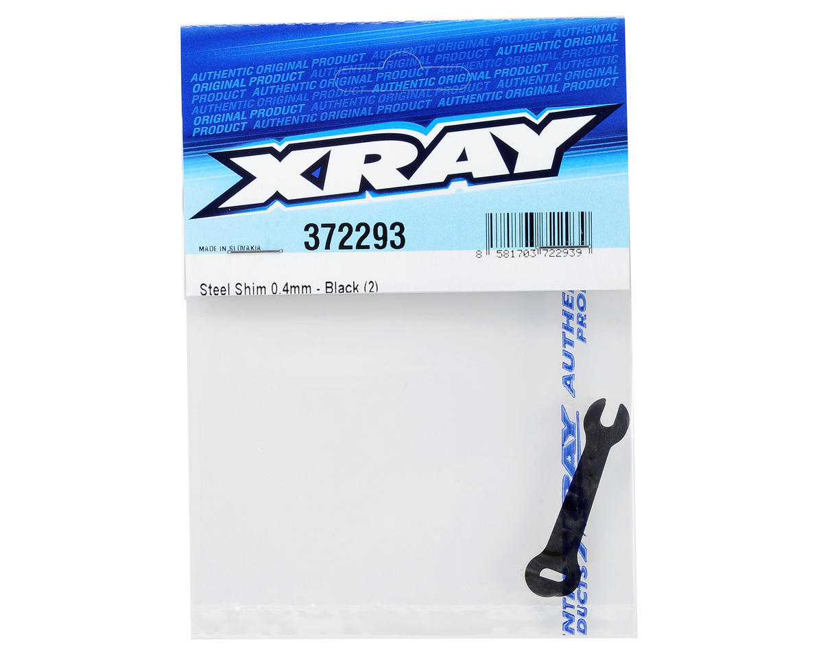 XRAY 0.4mm Steel Shim (Black) (2)