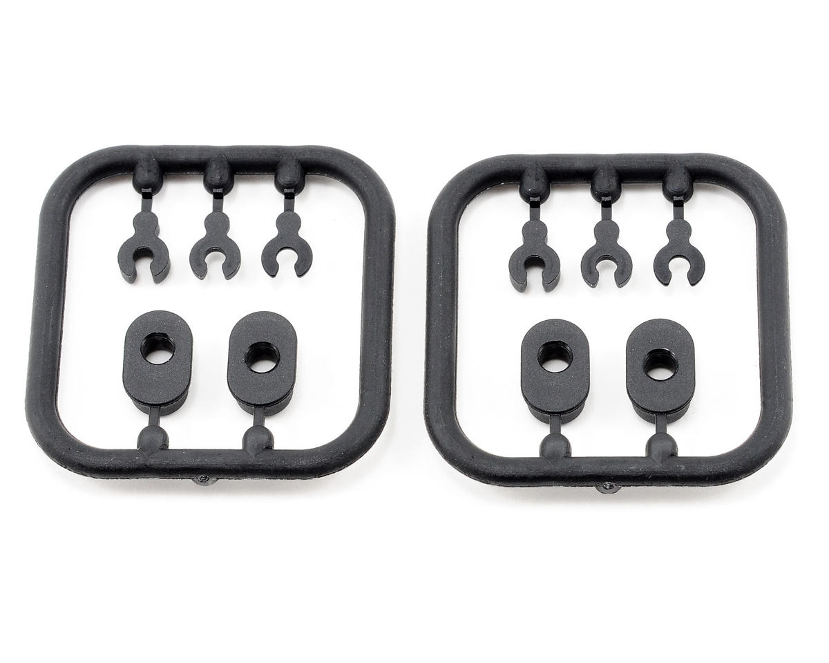 Composite Eccentric Bushings/Caster Clips (2) by XRAY