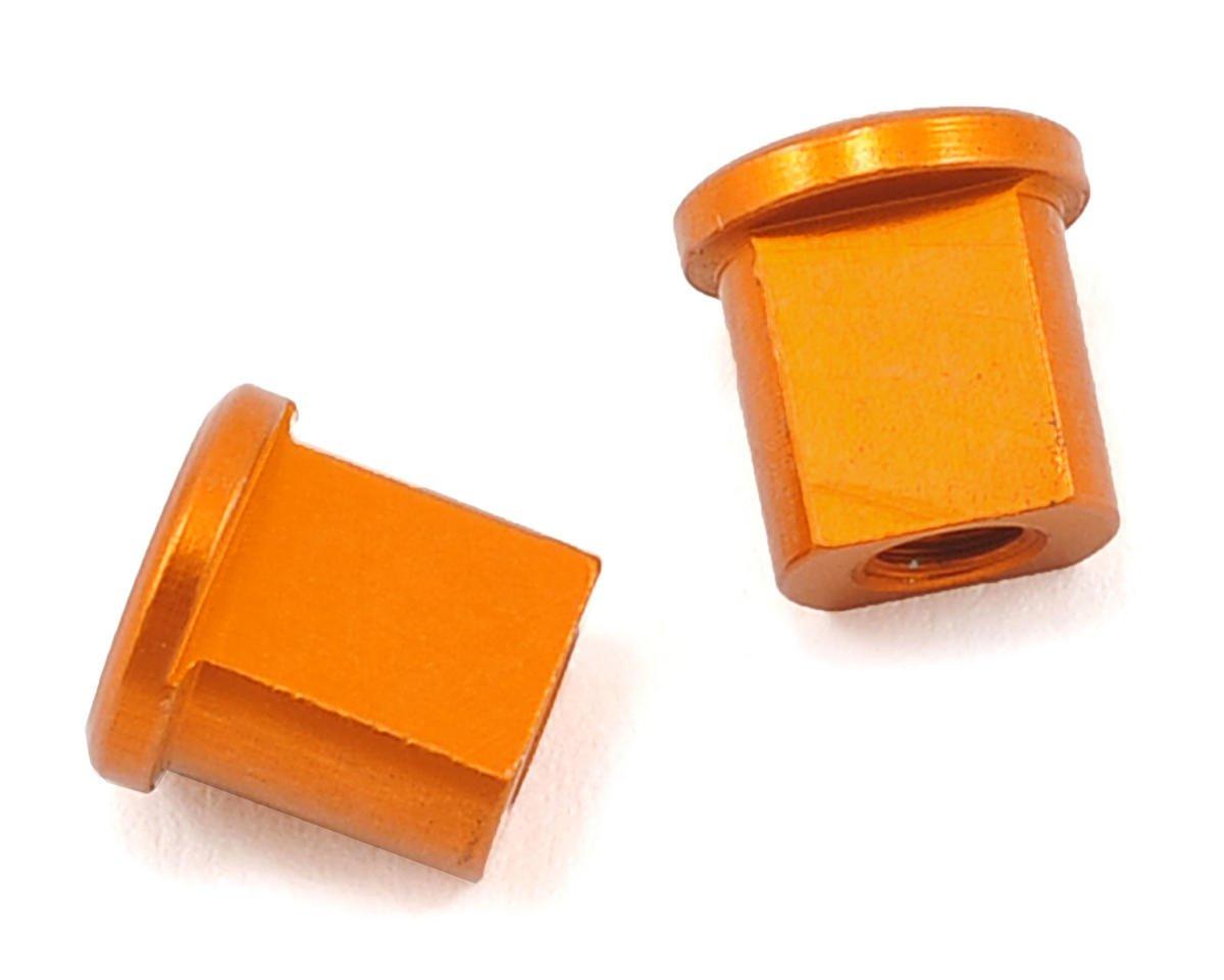 XRAY 0.0mm Aluminum Eccentric Bushing (Orange) (2)