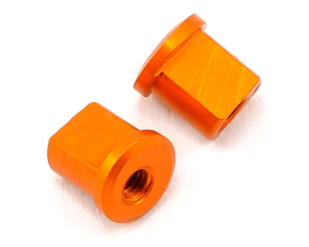 XRAY 0.5mm Aluminum Eccentric Bushing (Orange) (2)