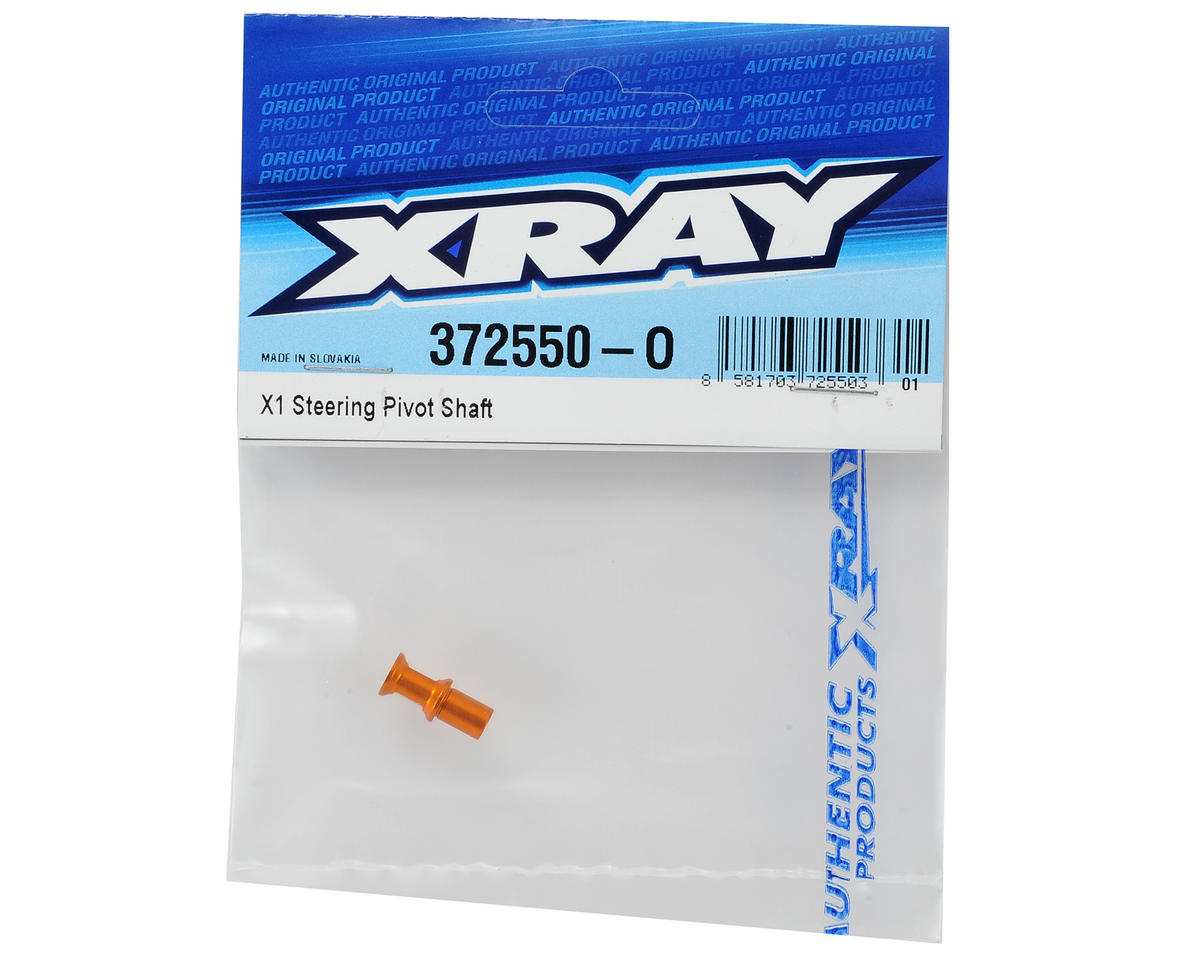 XRAY Aluminum X1 Steering Pivot Shaft (Orange)