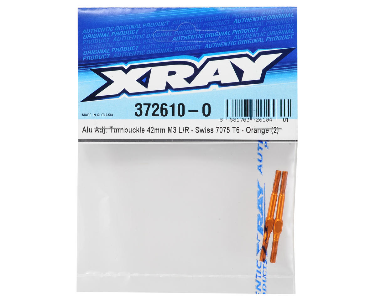 XRAY 3x42mm Aluminum Turnbuckle (Orange) (2)