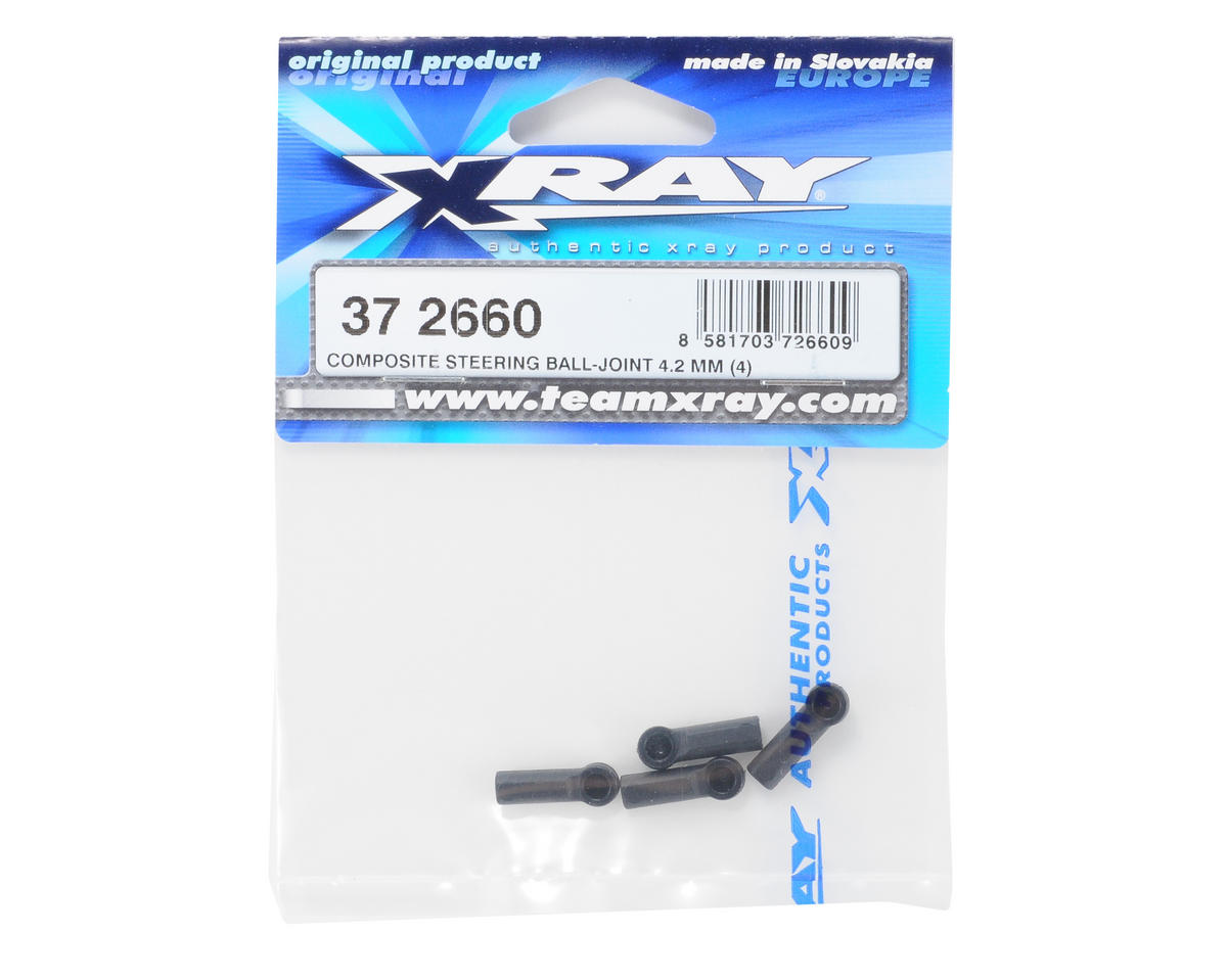 XRAY 4.2mm Composite Steering Ball Joint (4)