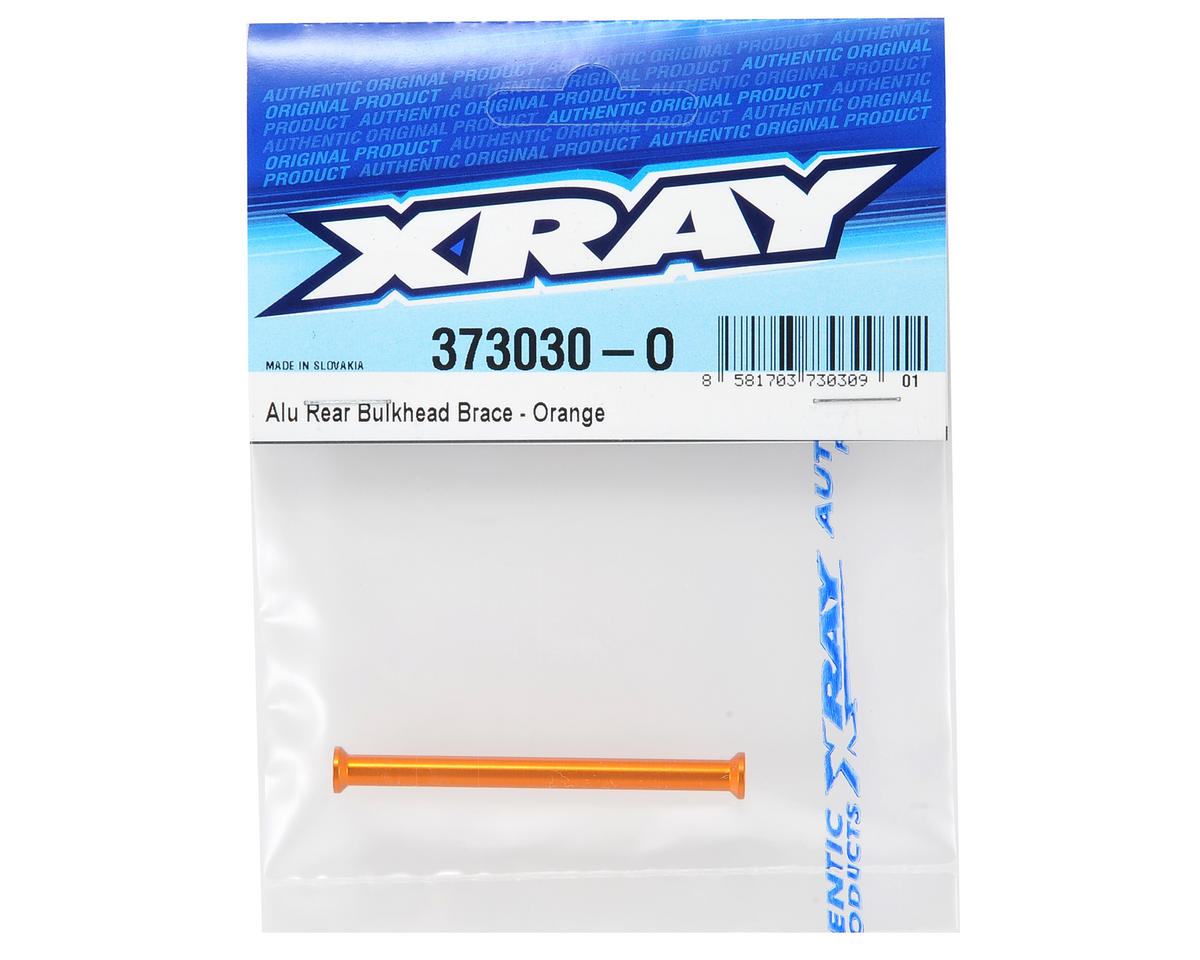 XRAY Aluminum Rear Bulkhead Brace (Orange)