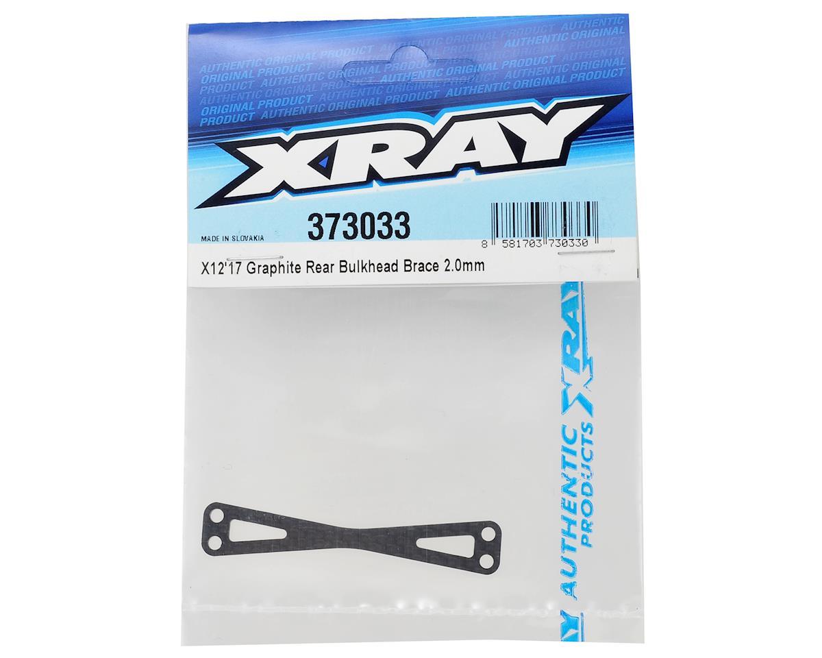 XRAY X12 2017 Graphite Rear Bulkhead Brace