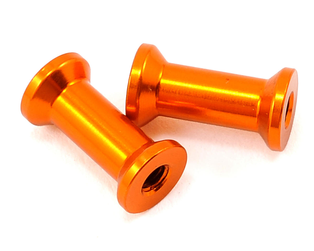 XRAY 13mm Aluminum Rear Brace Mount (Orange) (2)