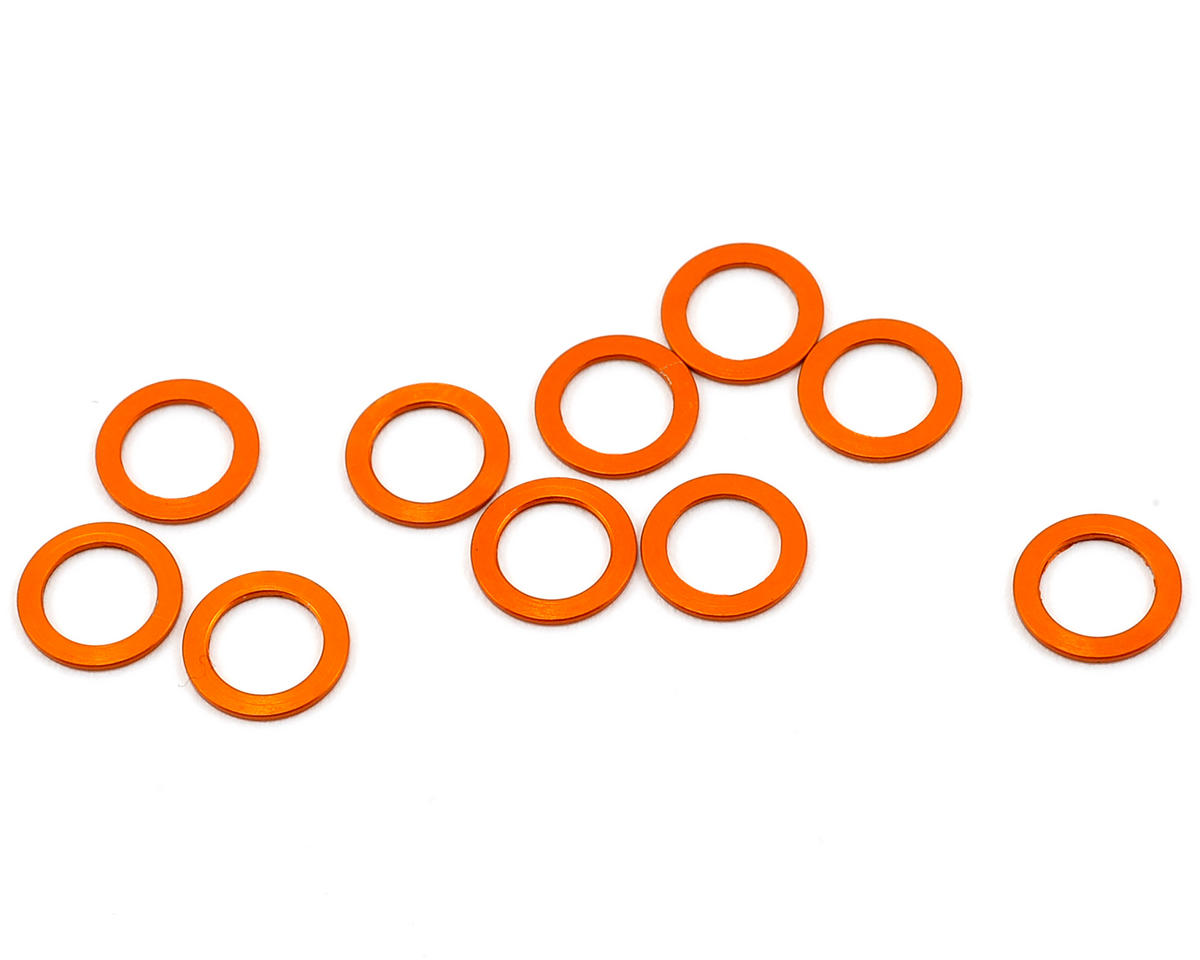 XRAY 5.3x7.8x0.5mm Aluminum Shim (Orange) (10)