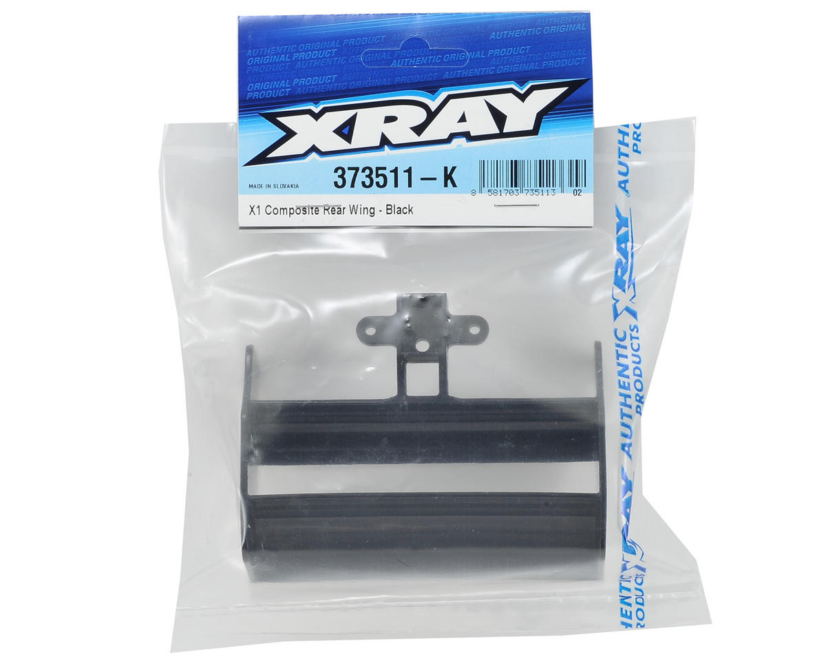 XRAY Composite X1 Rear Wing (Black)
