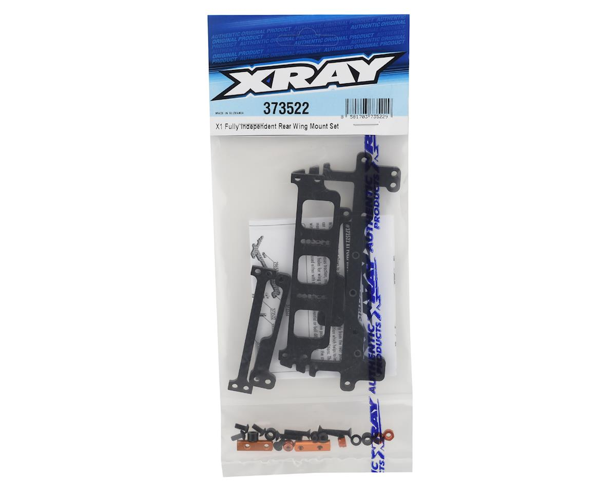 XRAY X1 Fully Independent Rear Wing Mount Set