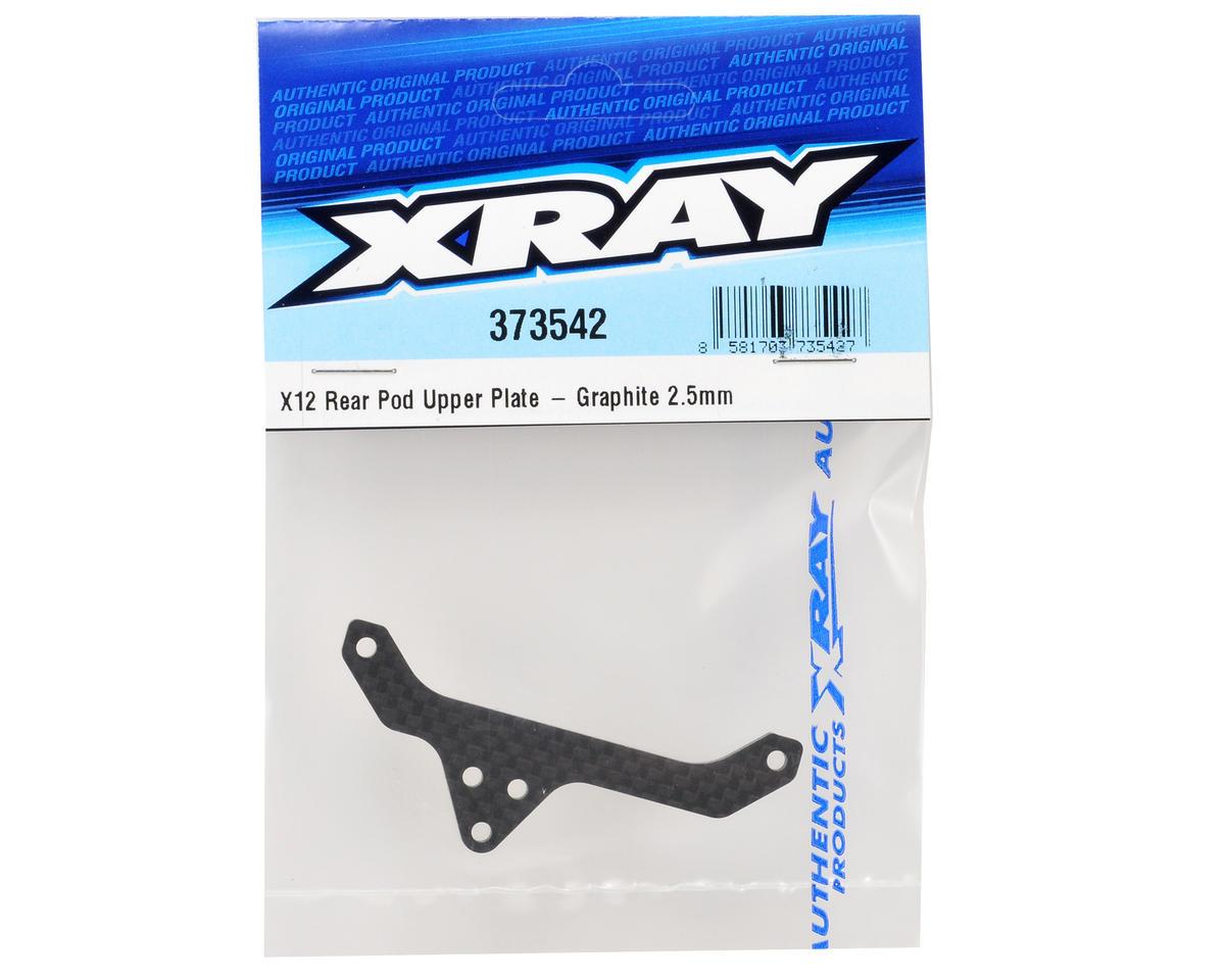 XRAY 2.5mm Graphite Rear Pod Upper Plate