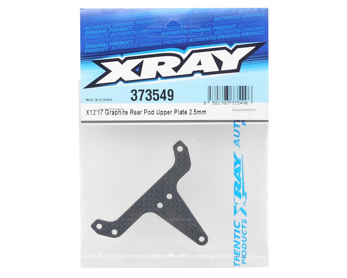 XRAY X12 2017 2.5mm Graphite Rear Pod Upper Plate