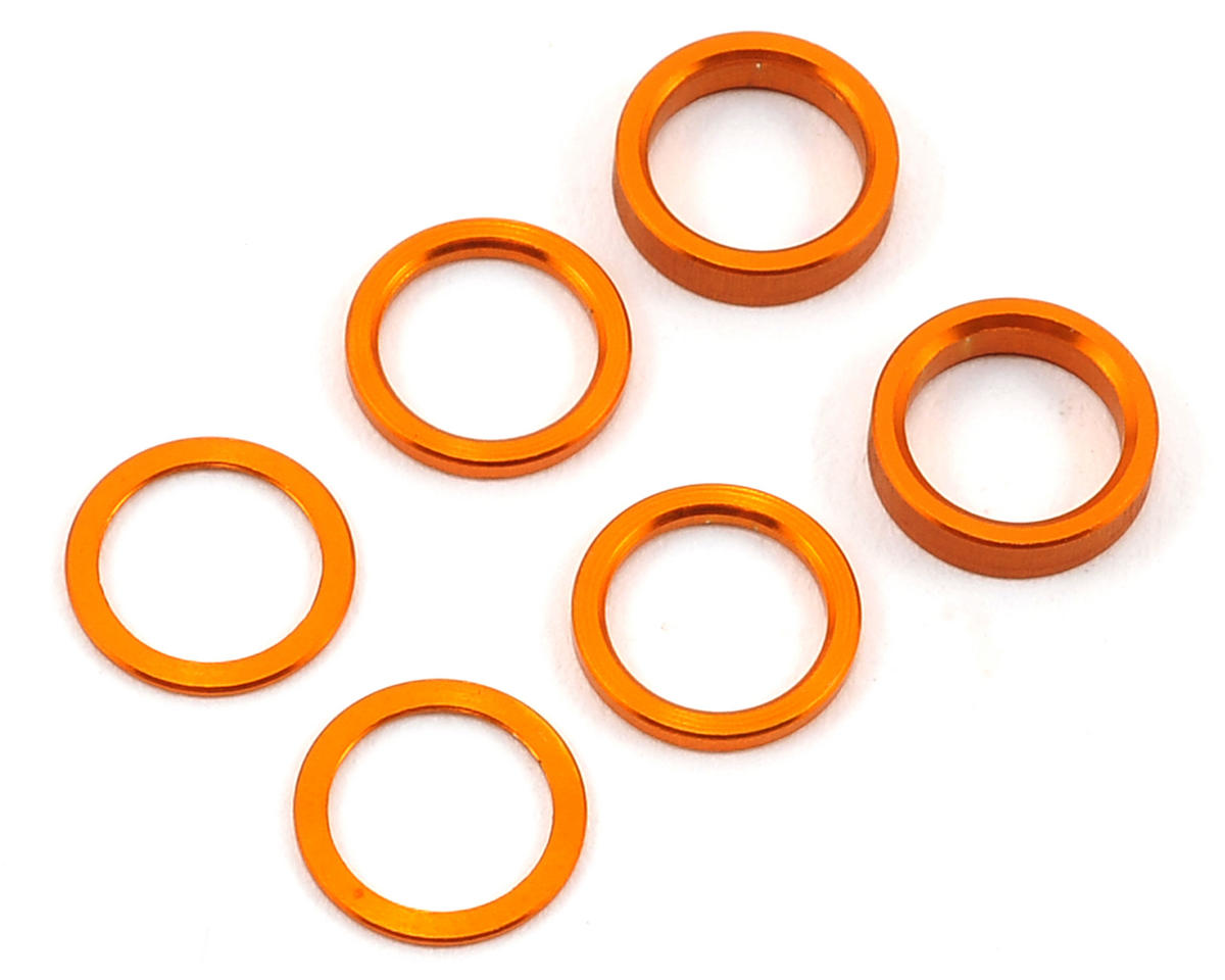 XRAY Aluminum Shim Set (0.5mm, 1.0mm, 2.0mm) (Orange)