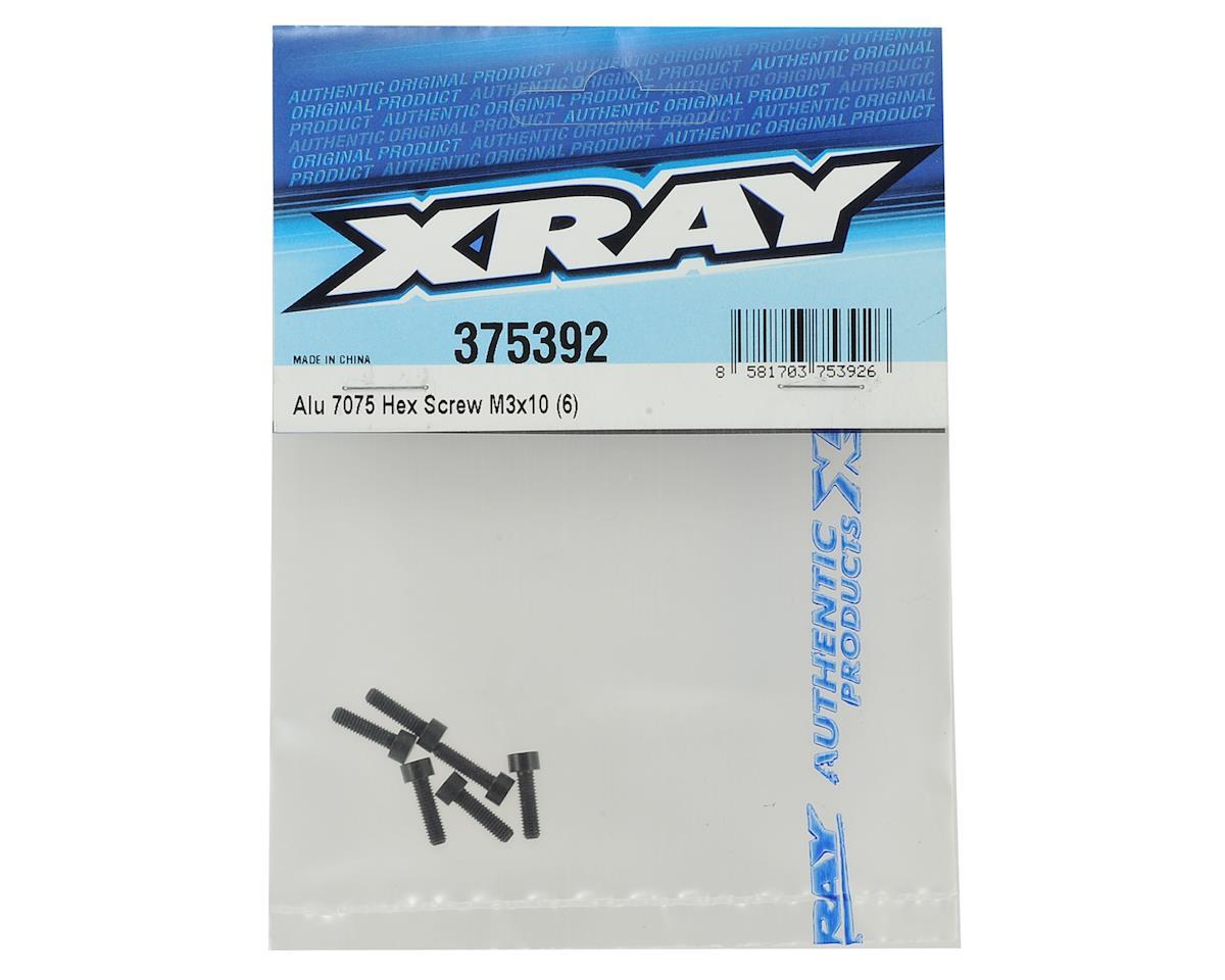 XRAY 3X10mm Aluminum Hex Screw (6)