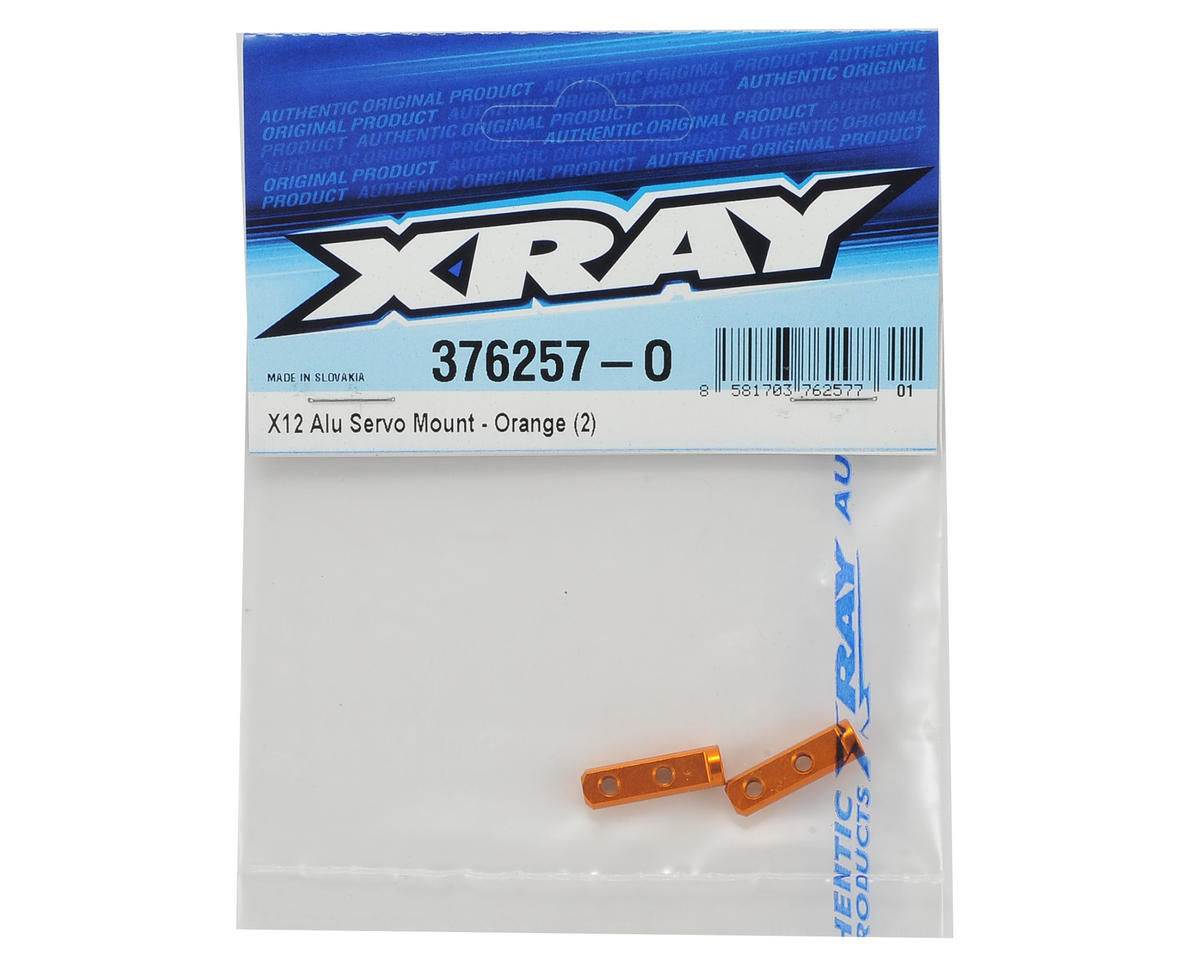 XRAY X12 2016 Aluminum Servo Mounts (Orange) (2)