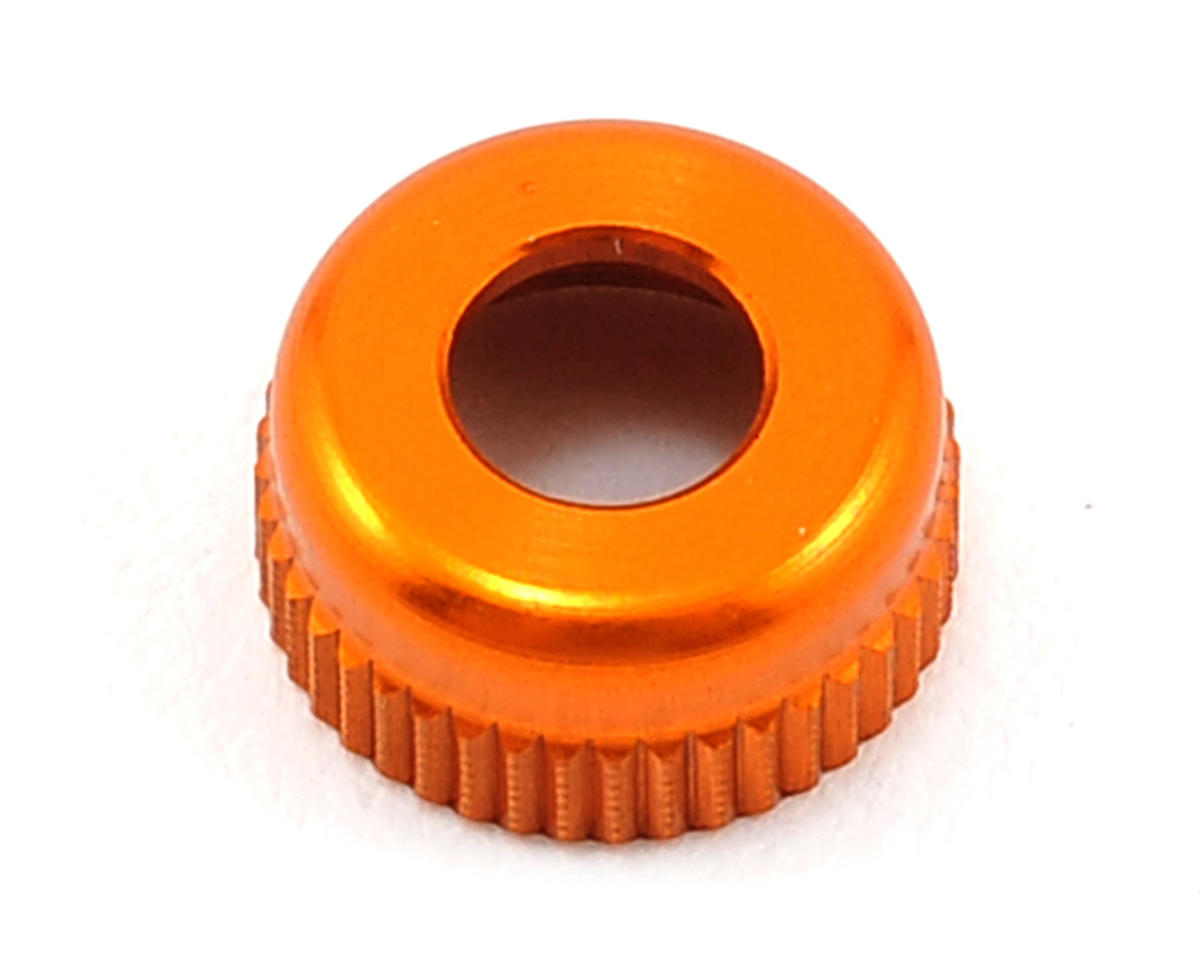 Aluminum Lower Shock Body Cap (Orange) by XRAY