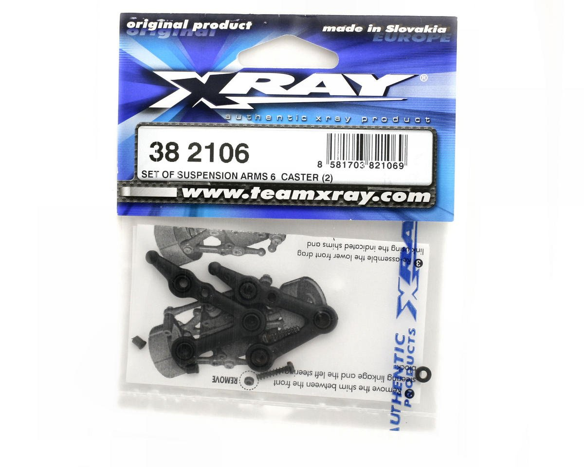 XRAY Suspension Arms 6°Caster (2)