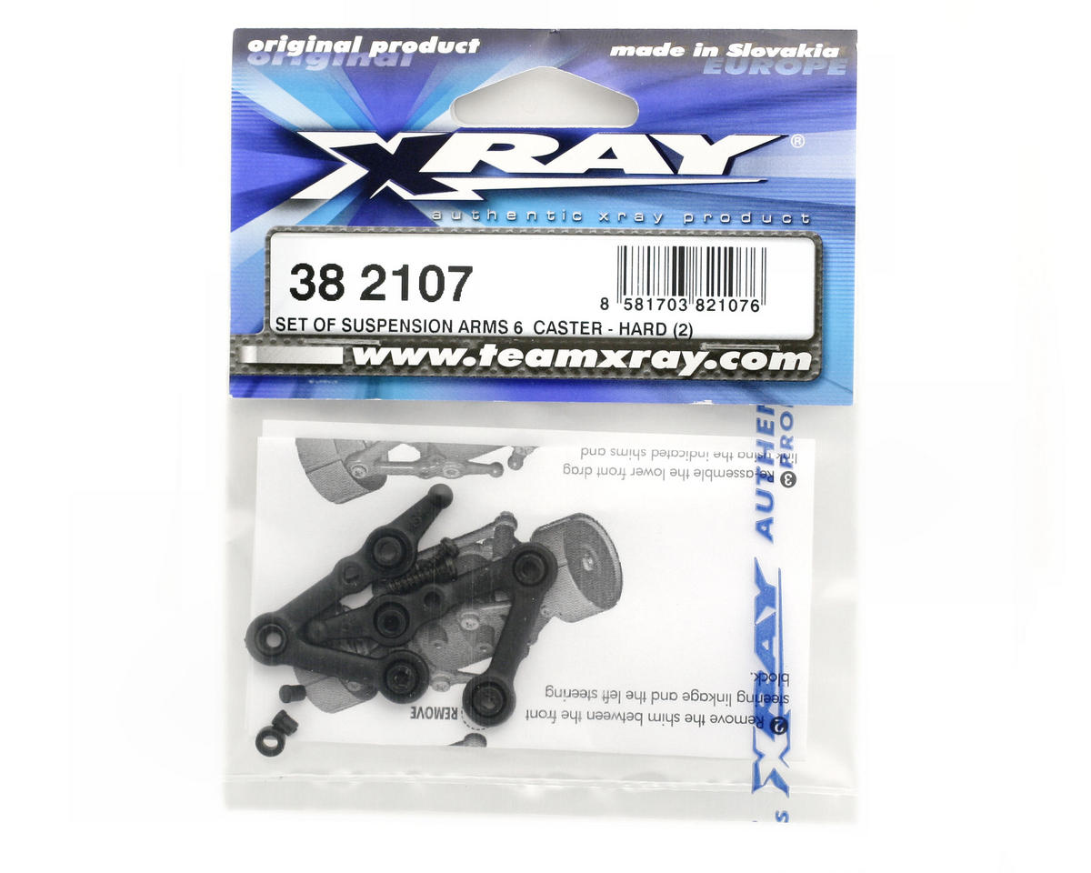 XRAY Suspension Arms 6° Caster (Hard) (2)