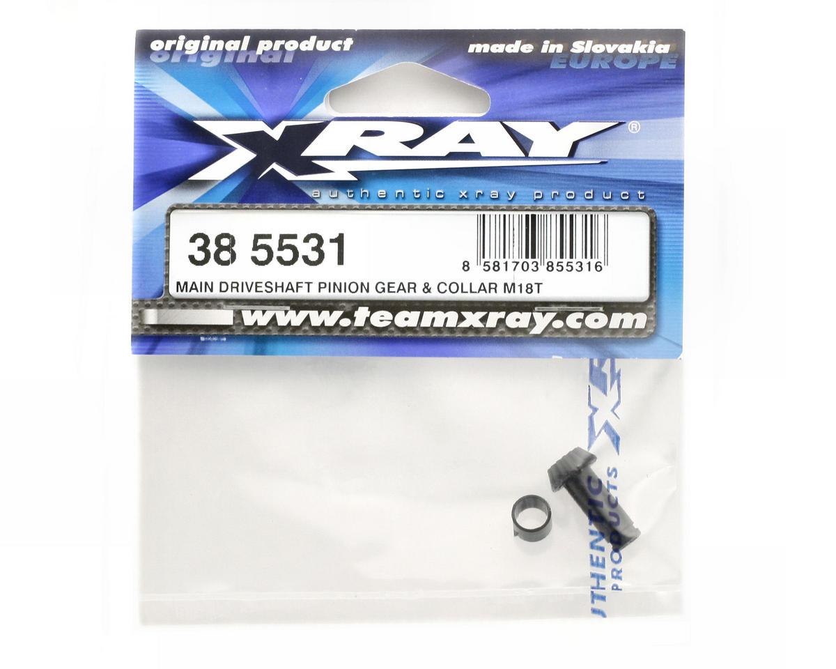 XRAY Main Driveshaft Pinion Gear & Collar (M18T)