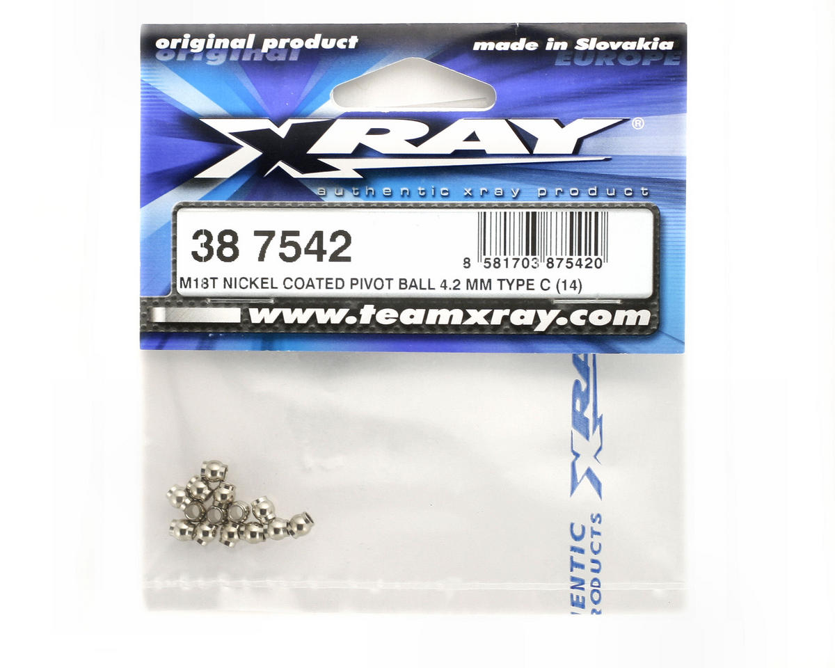 XRAY Nickel Coated 4.2mm Pivot Ball (M18T - Type C) (14)