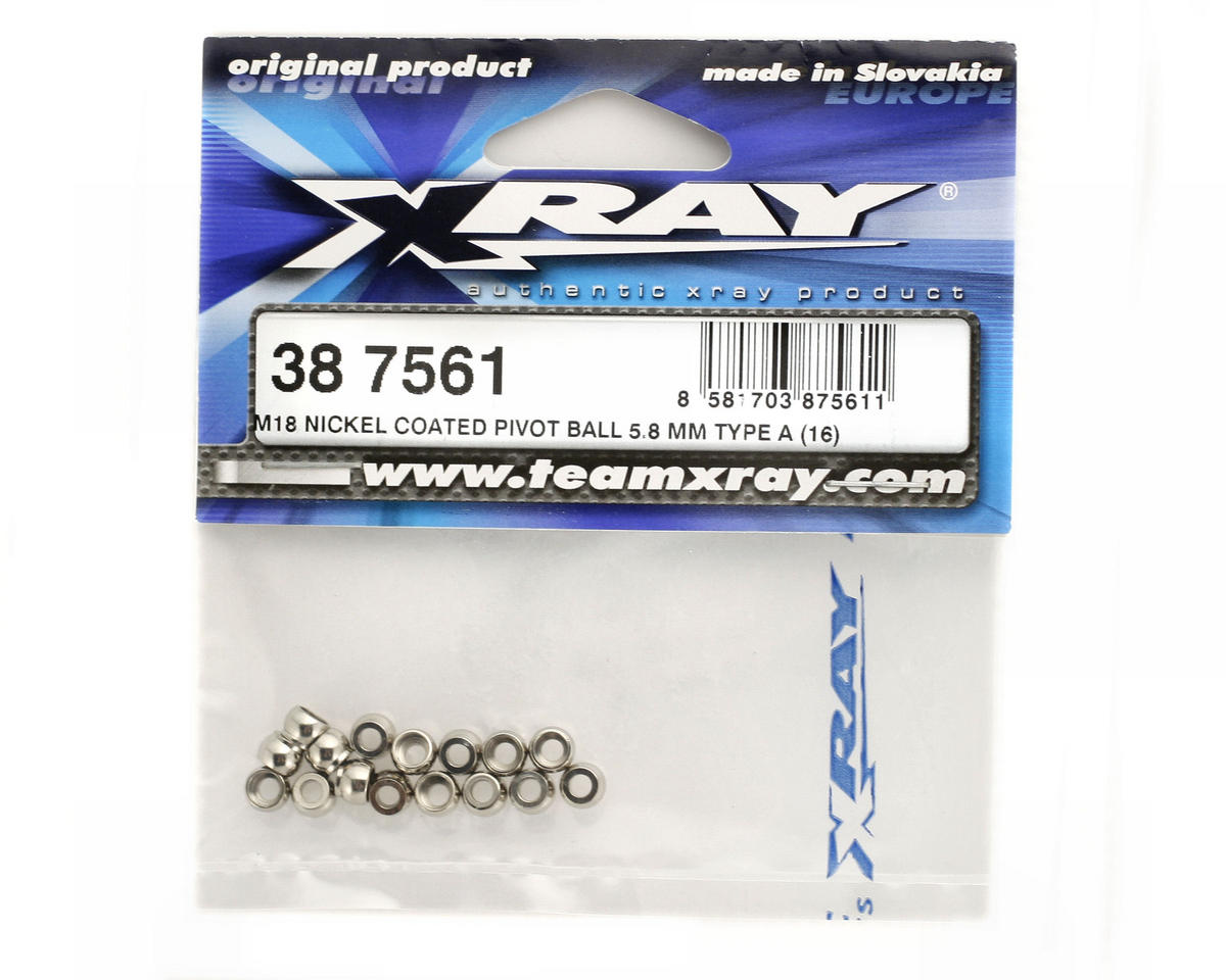 XRAY Nickel Coated 5.8mm Pivot Ball (M18 - Type A) (16)