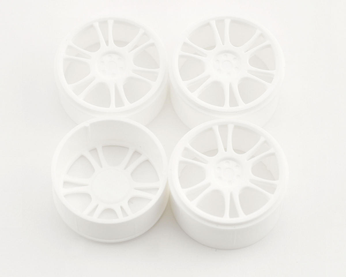 Micro Wheels Front & Rear (4) (White) by XRAY