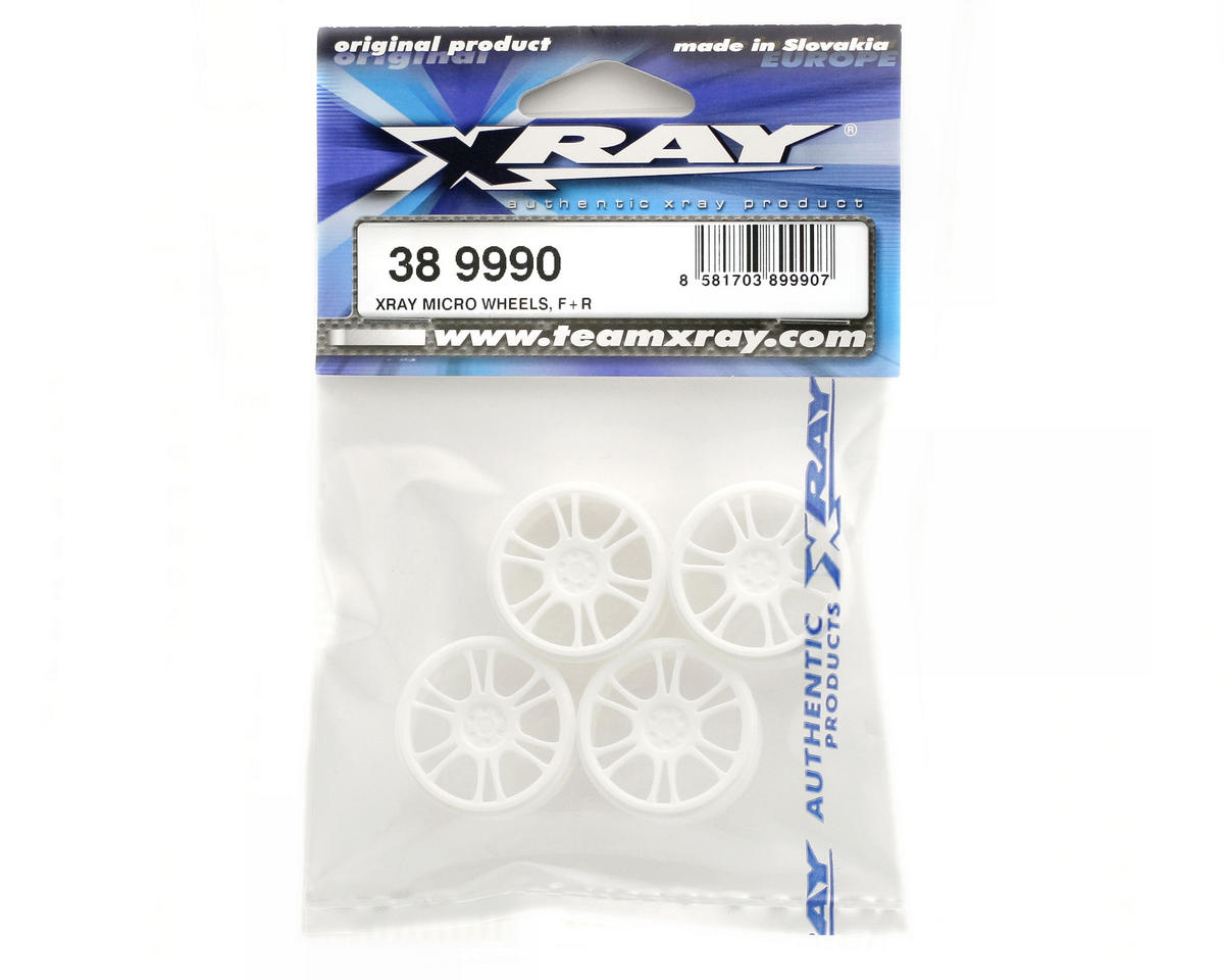XRAY Micro Wheels Front & Rear (4) (White)