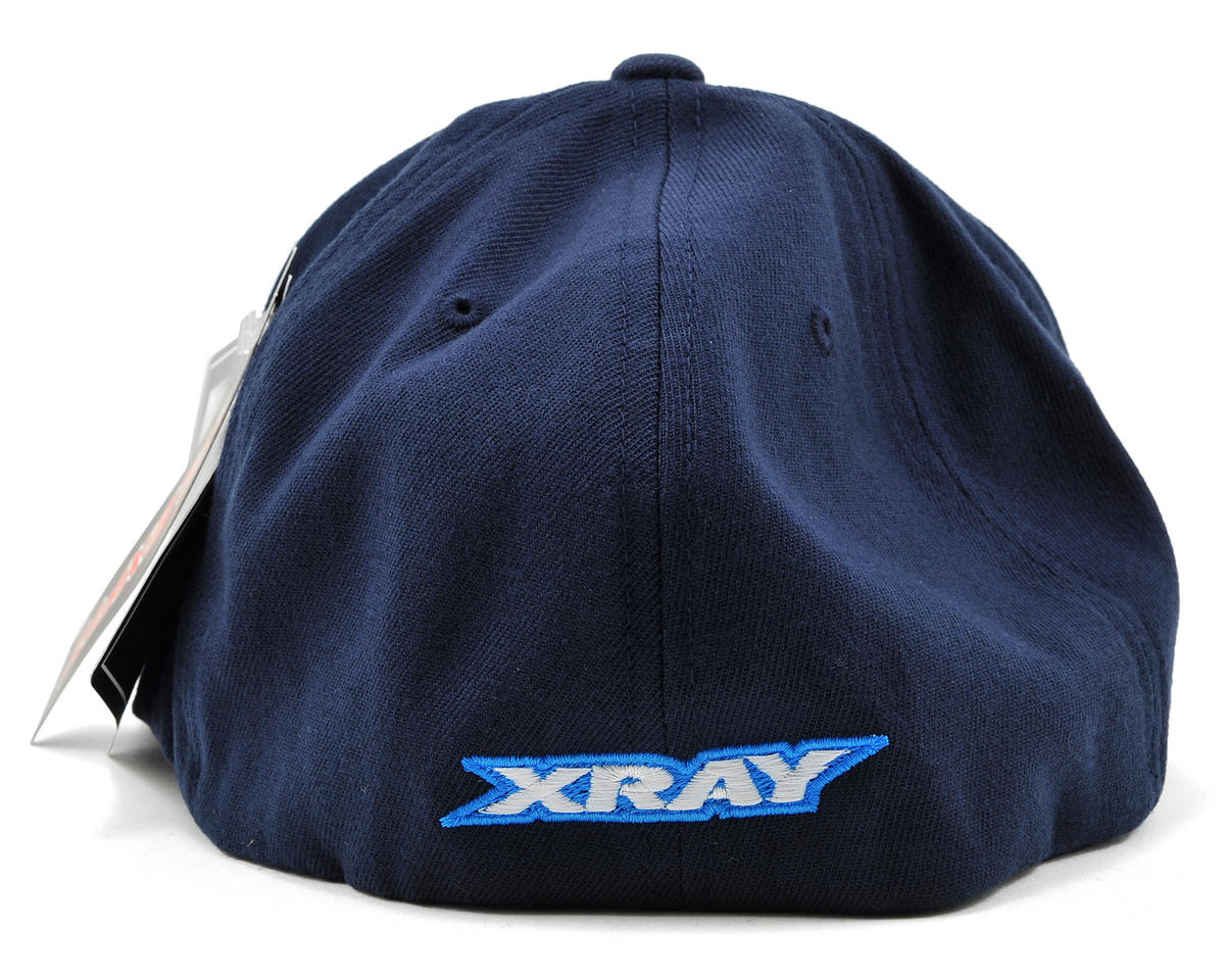 "XRAY ""Hip-Hop"" Flat Bill Flexfit Cap (Blue) (Blue) (L/XL)"