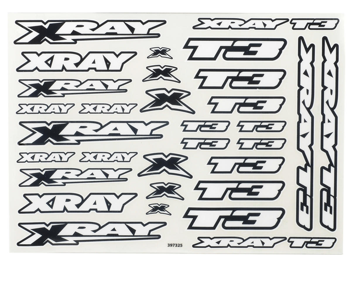 XRAY T3 Body Stickers (White)